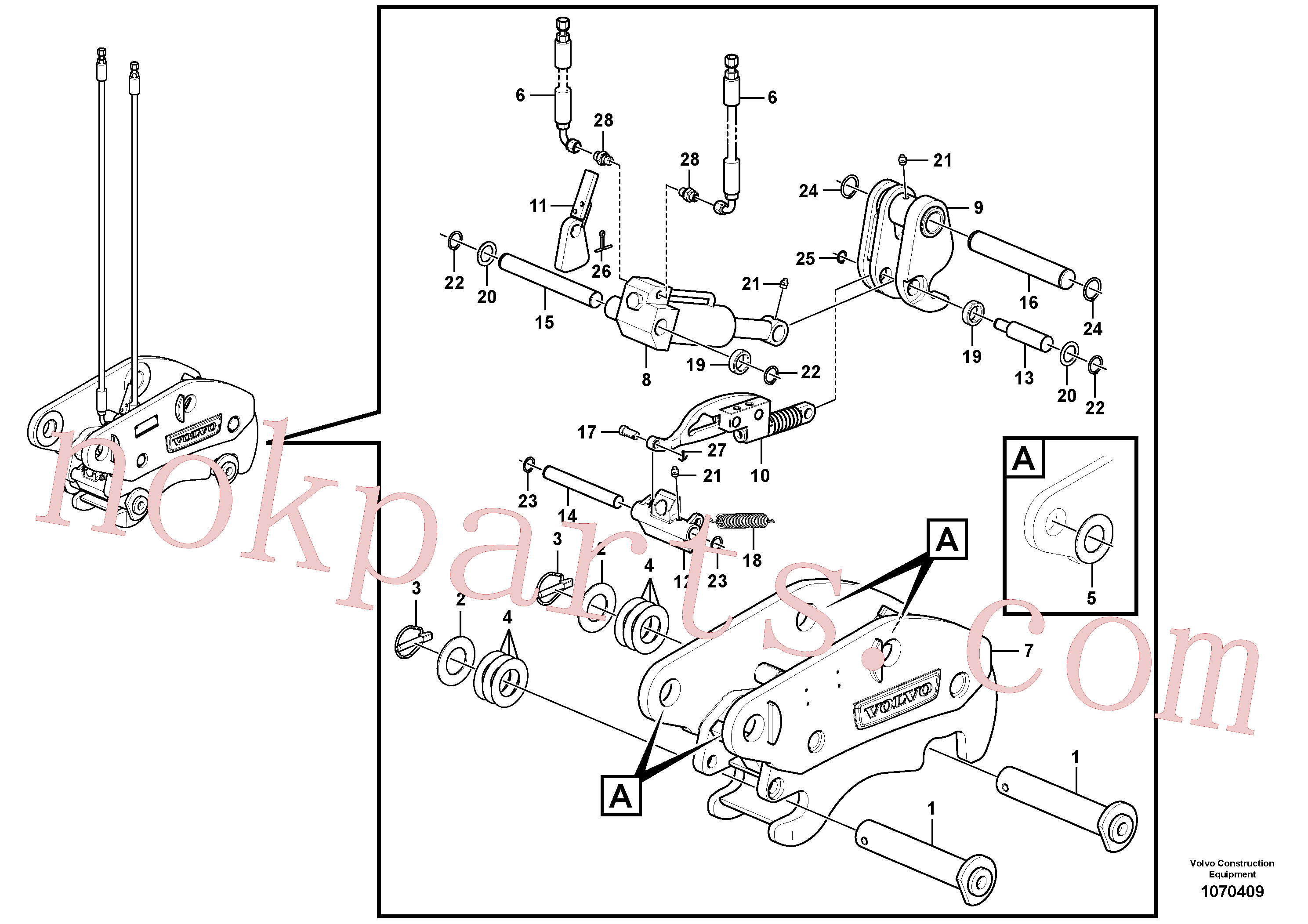 VOE17415395 for Volvo Hydraulic attachment bracket(1070409 assembly)