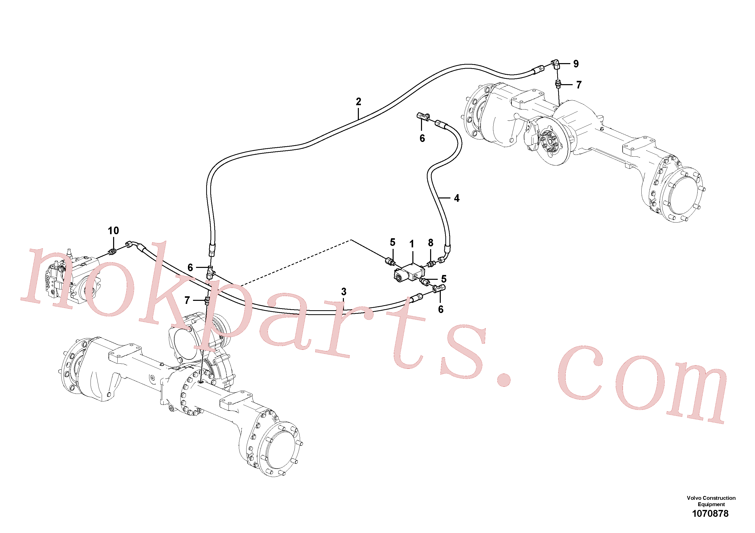 VOE11306420 for Volvo Differential lock(1070878 assembly)