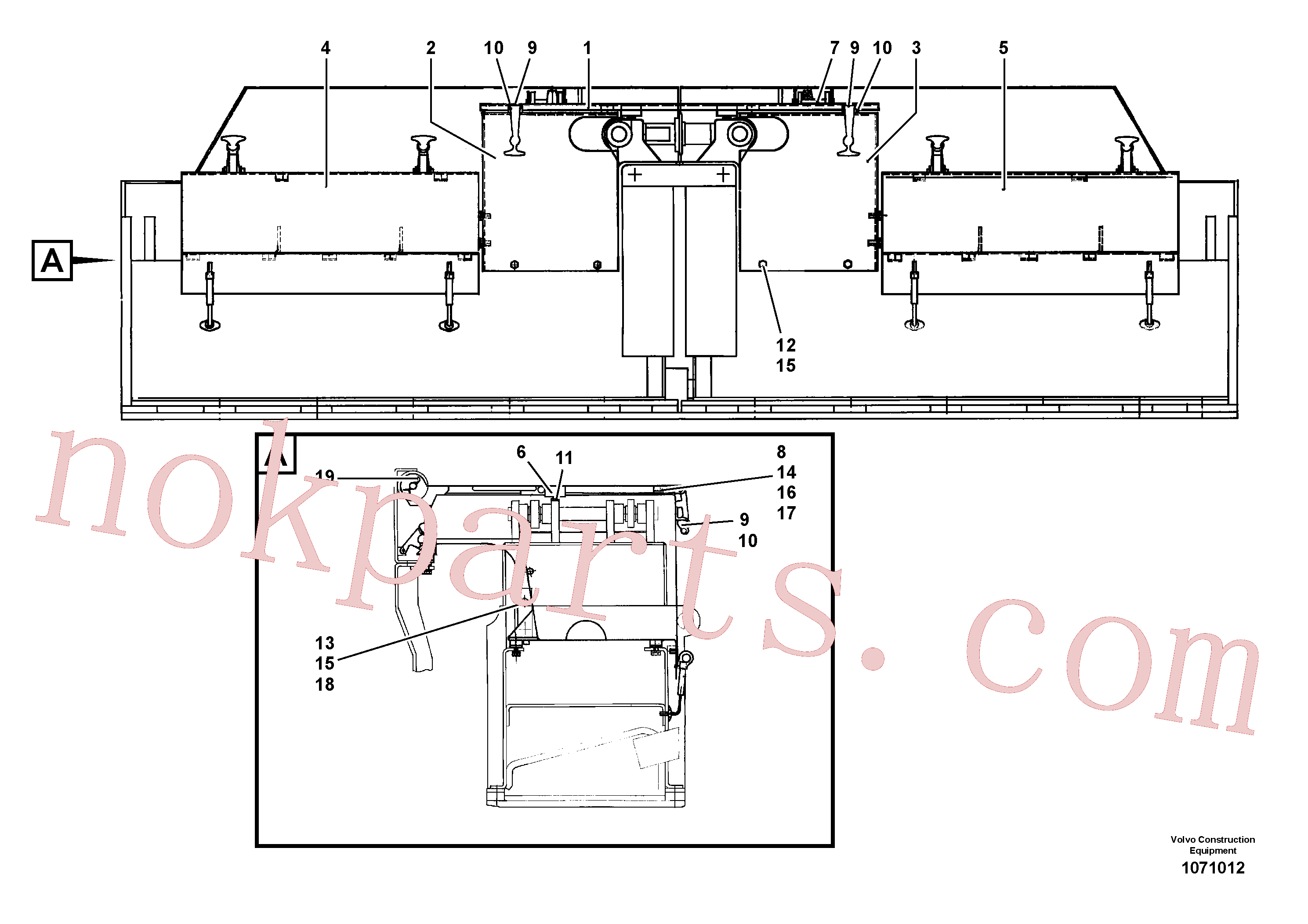 RM14085005 for Volvo Protective cover(1071012 assembly)