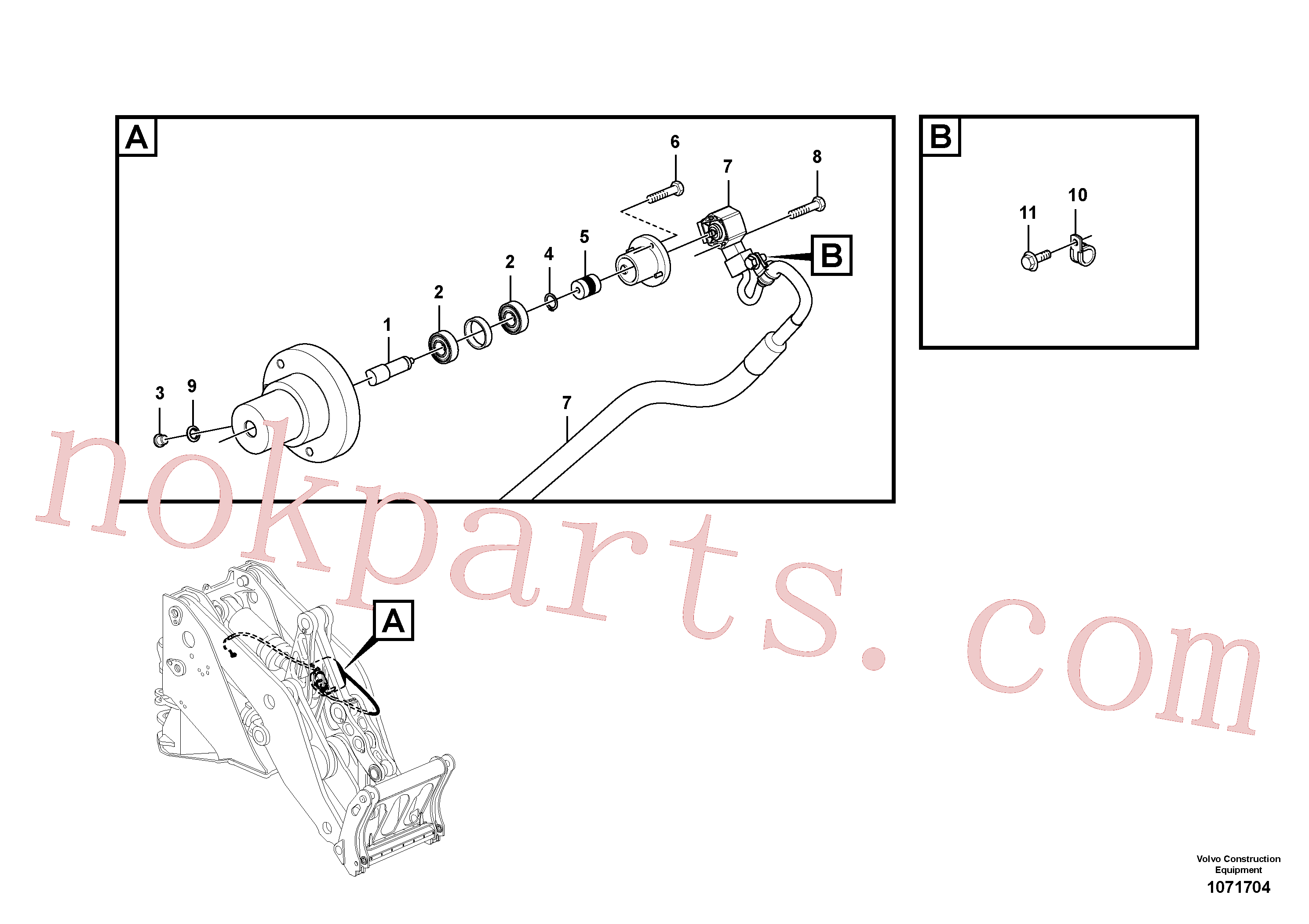 VOE946834 for Volvo Angle sensor, tilt(1071704 assembly)