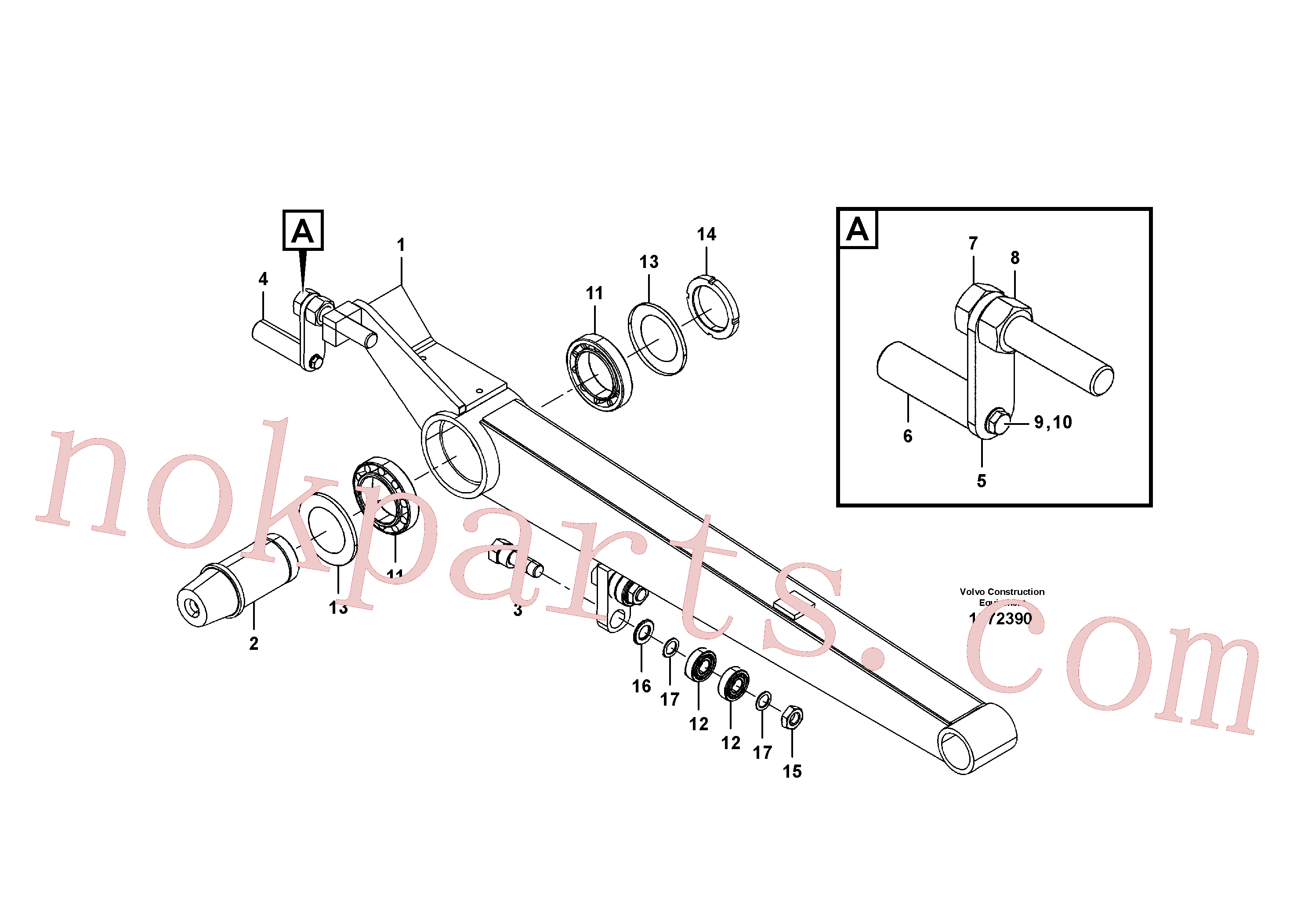 VOE184688 for Volvo Outrigger(1072390 assembly)