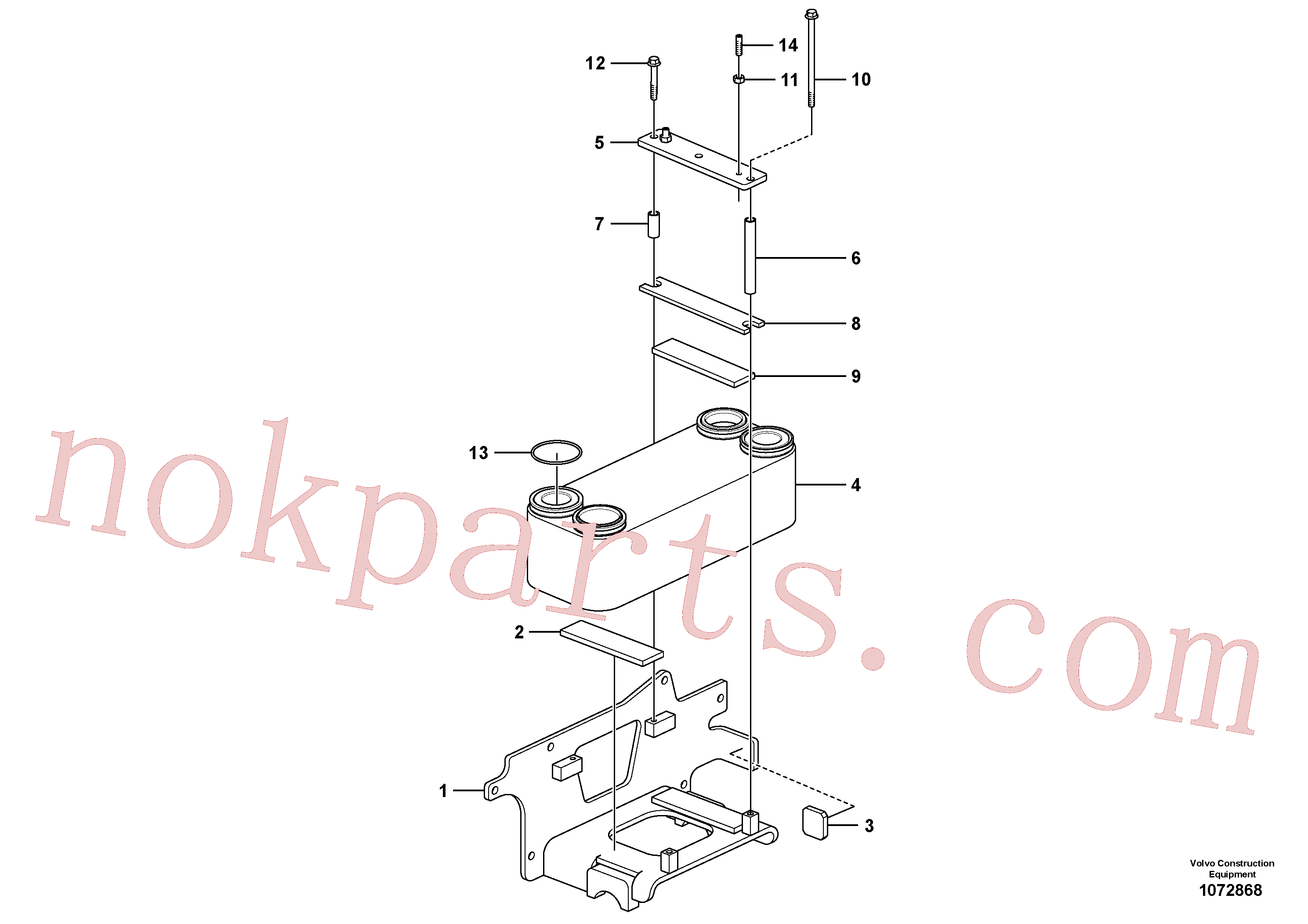 VOE962939 for Volvo Heat exchanger(1072868 assembly)