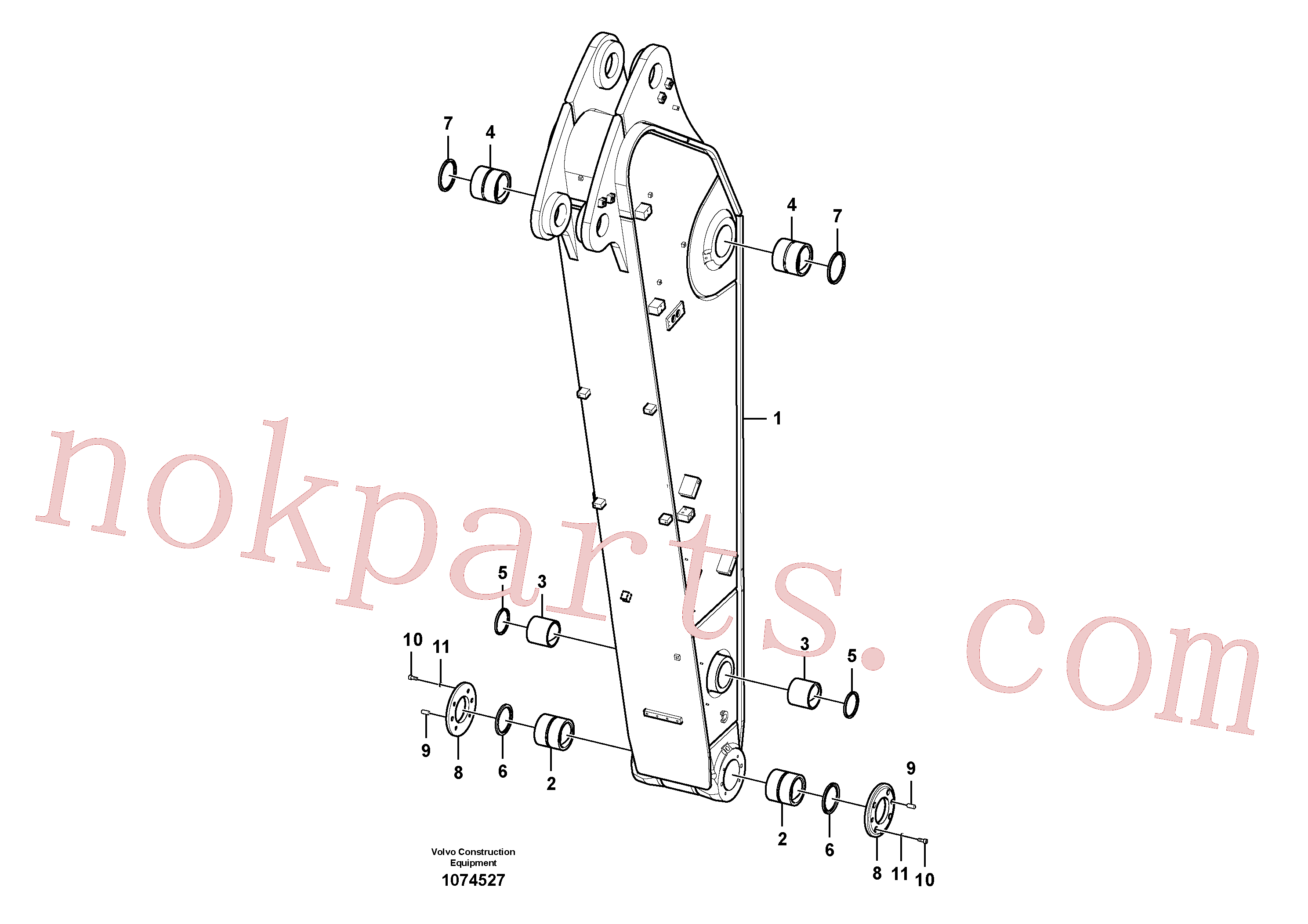 VOE14507547 for Volvo Dipper arm(1074527 assembly)