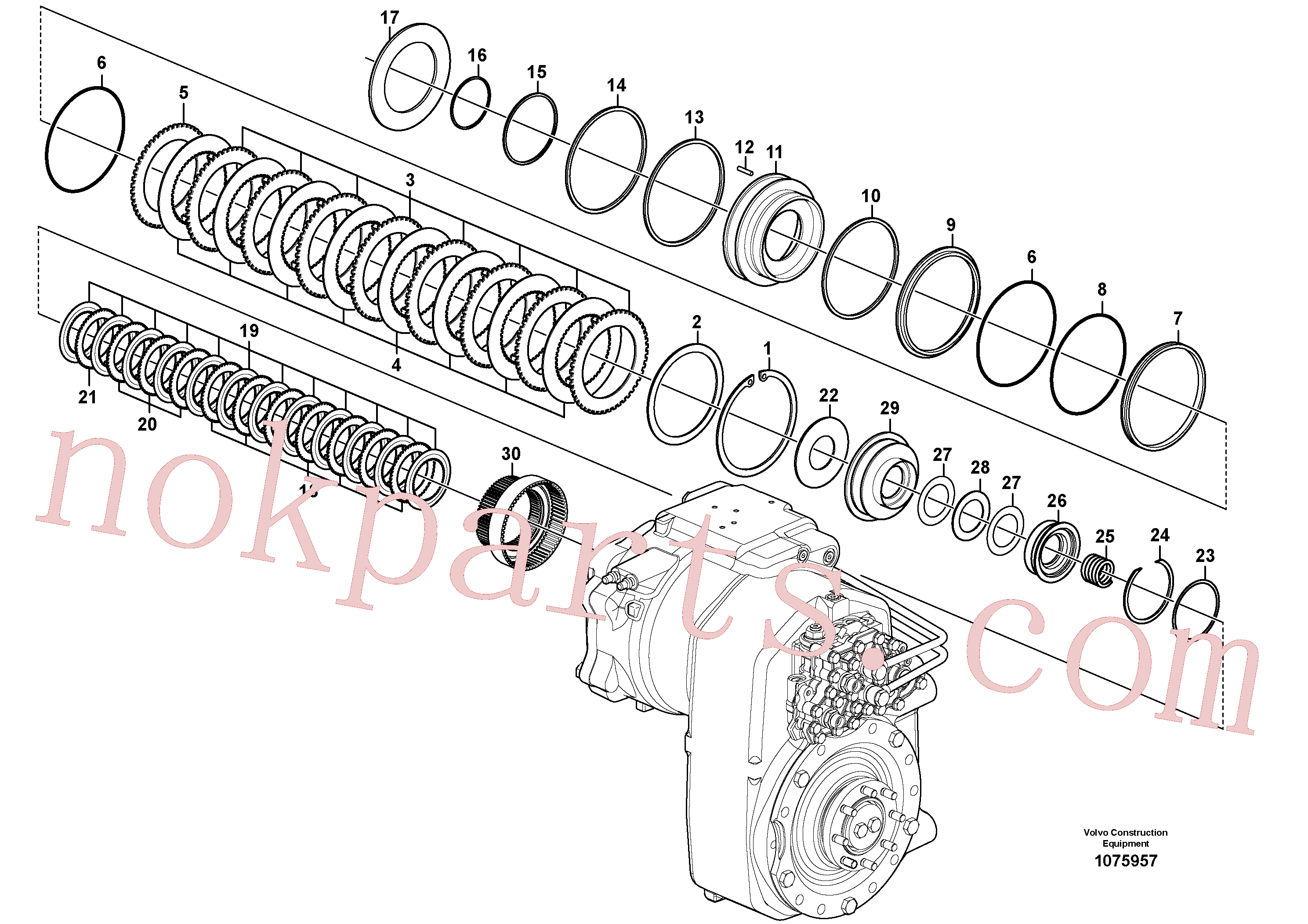 VOE14558045 for Volvo Transfer case, hydraulic coupling(1075957 assembly)