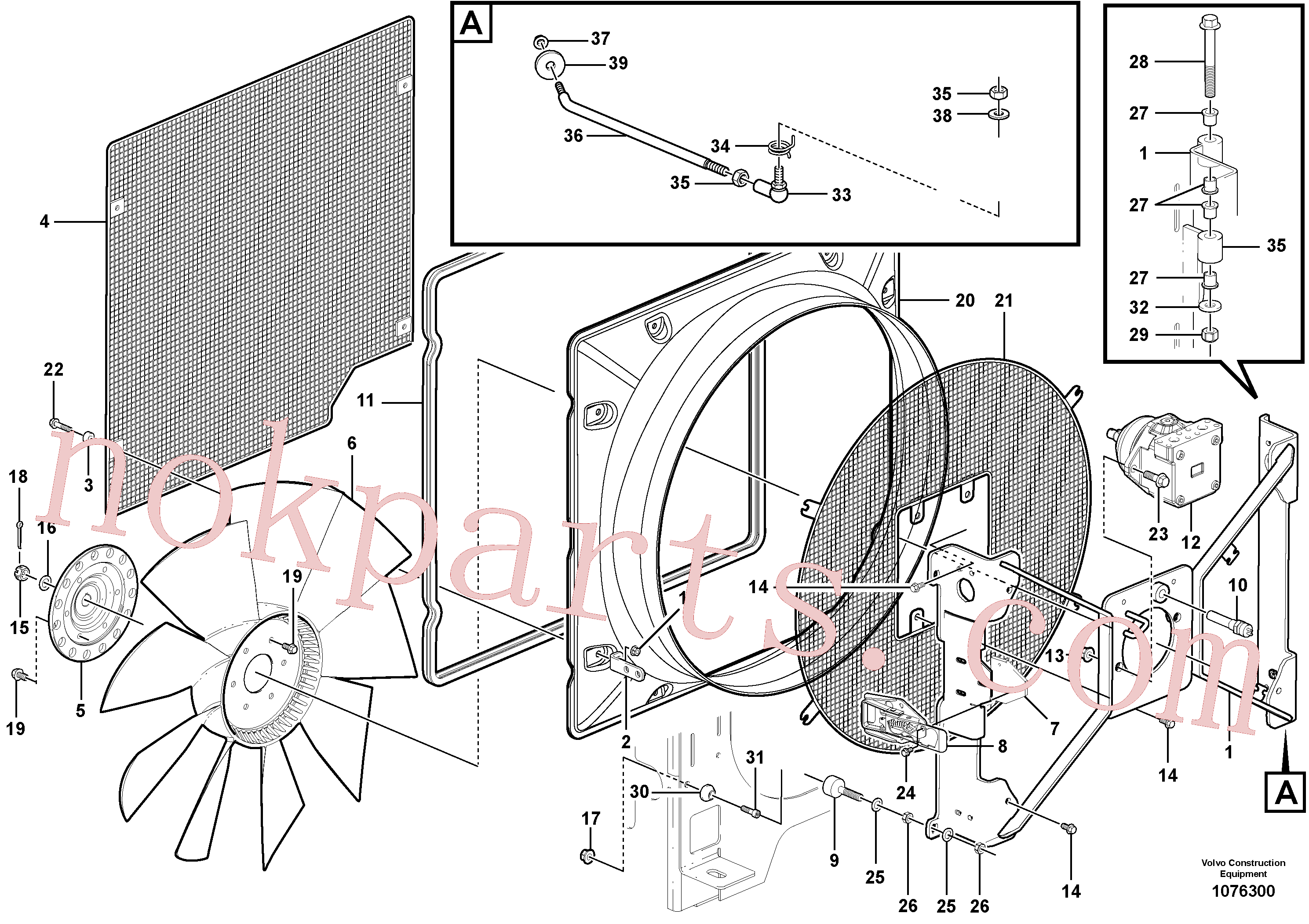 RM14085005 for Volvo Fan housing(1076300 assembly)