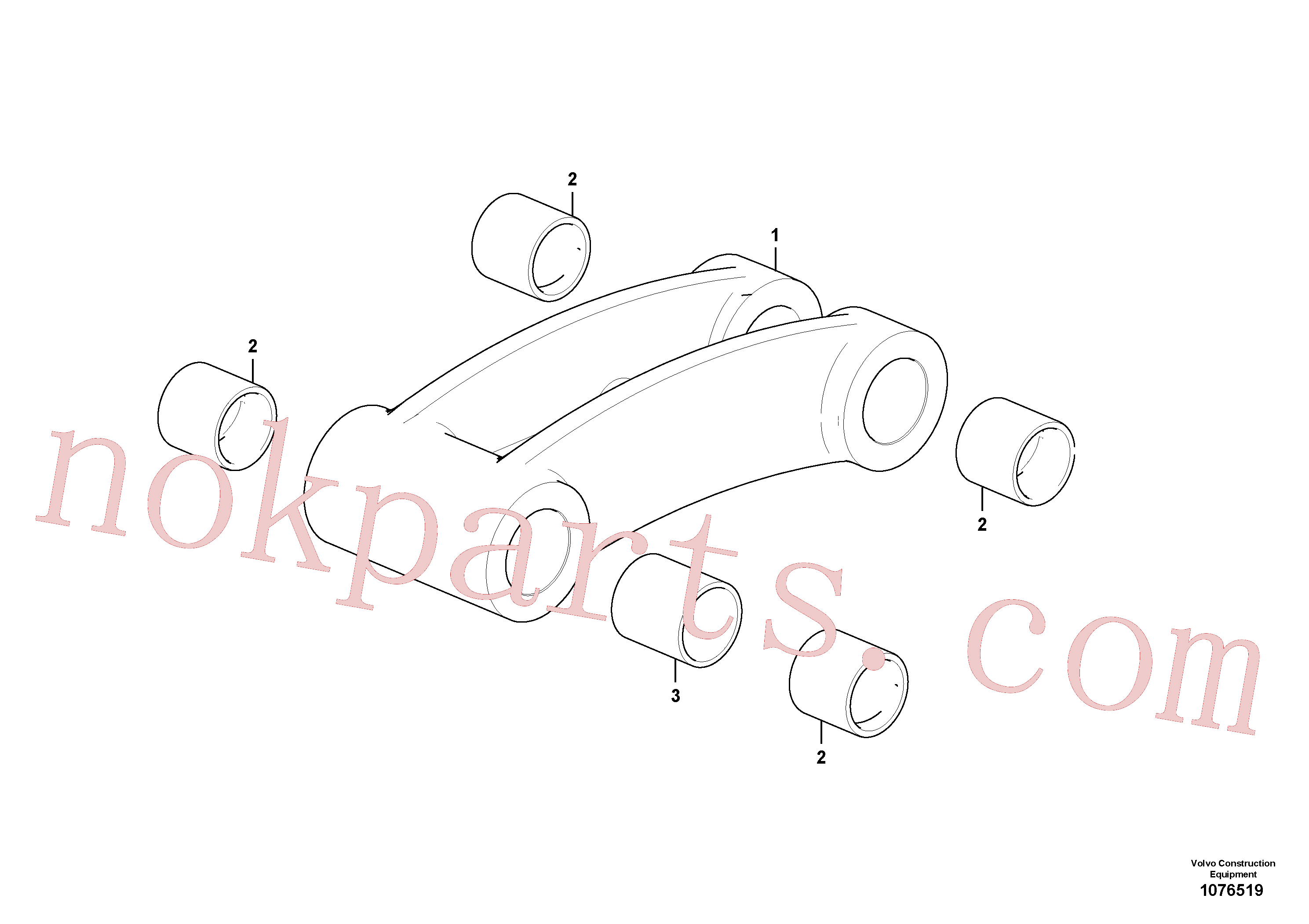 PJ3870086 for Volvo Connecting rod(1076519 assembly)