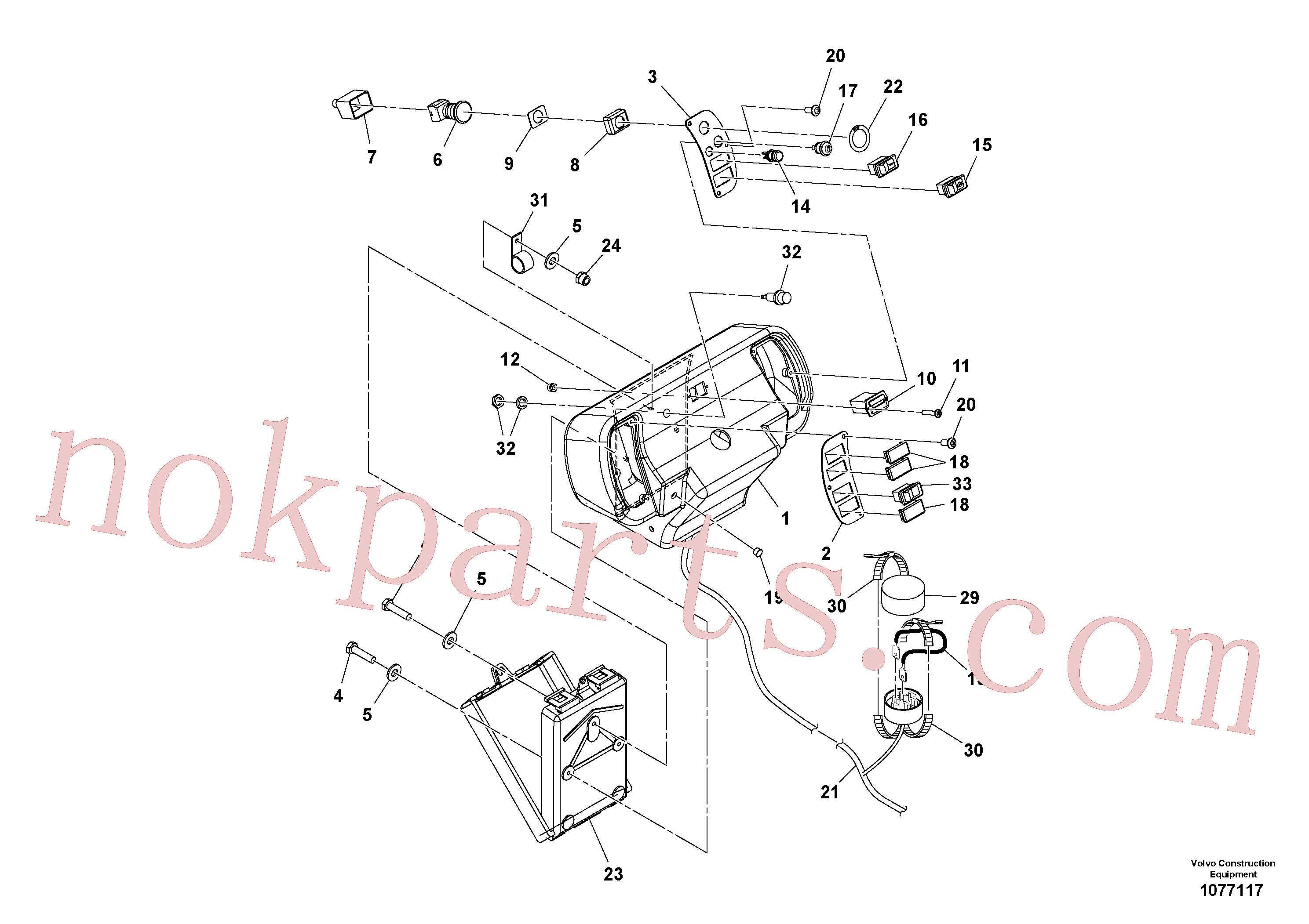 VOE12787620 for Volvo Console Assembly(1077117 assembly)