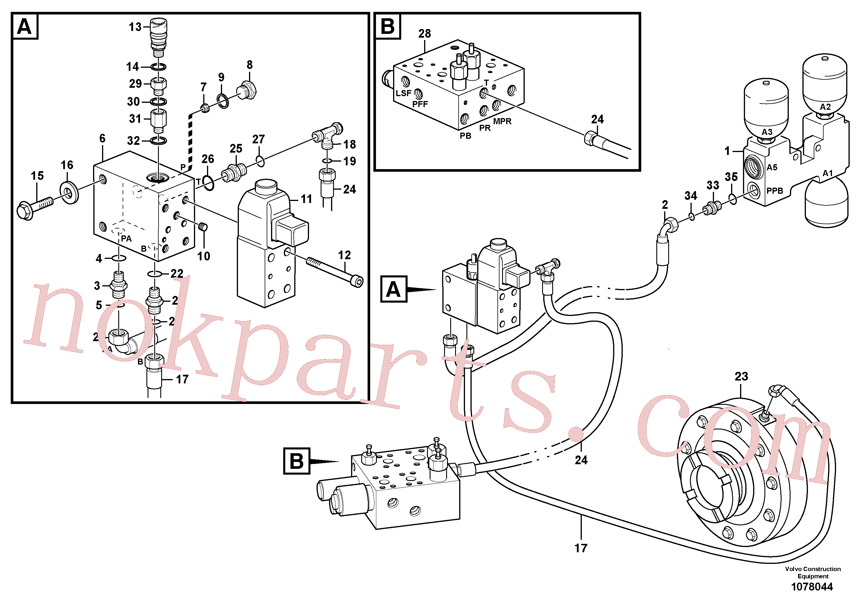 VOE11999448 for Volvo Parking brake system(1078044 assembly)