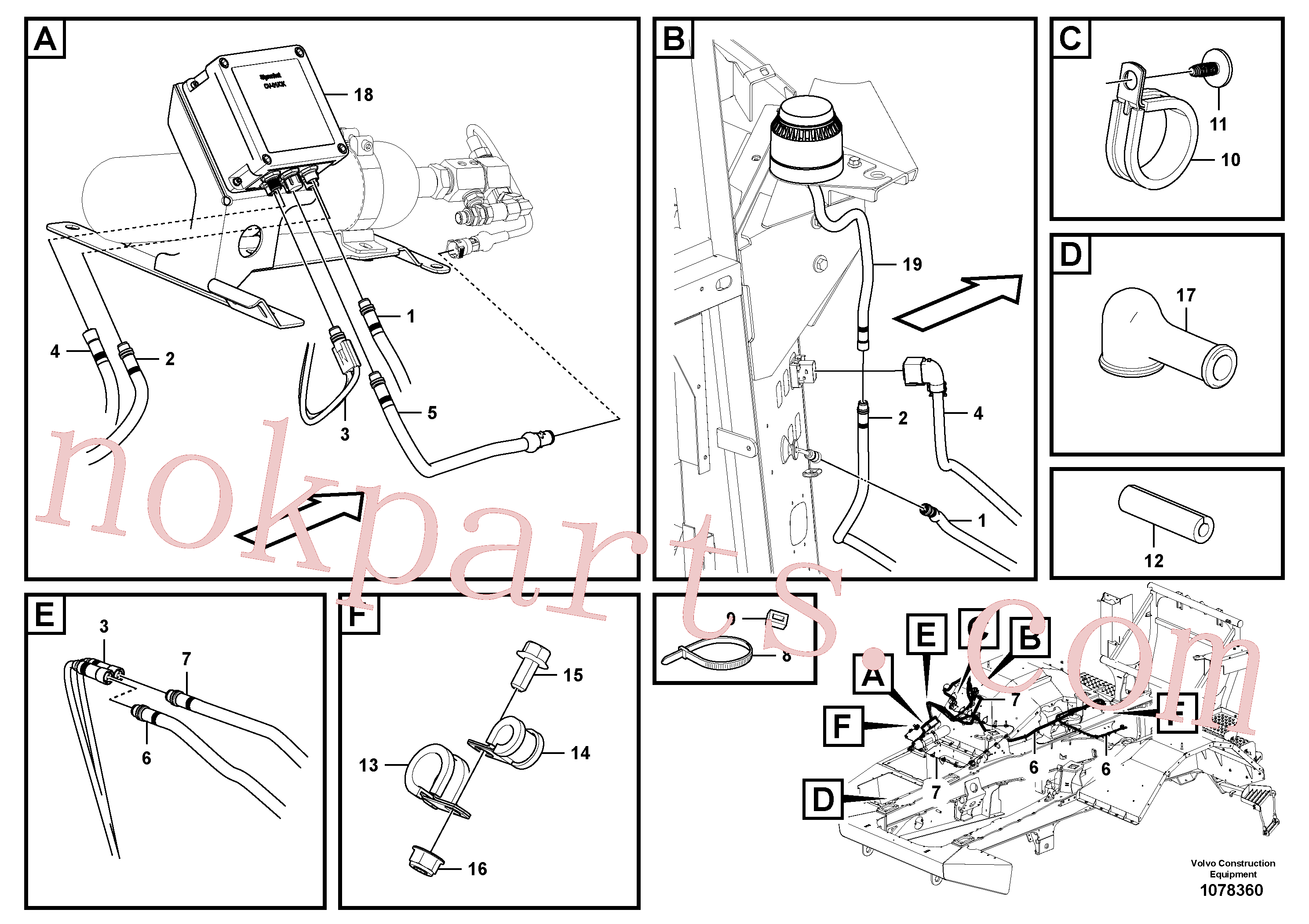 VOE946834 for Volvo Cable harness, fire suppression system(1078360 assembly)