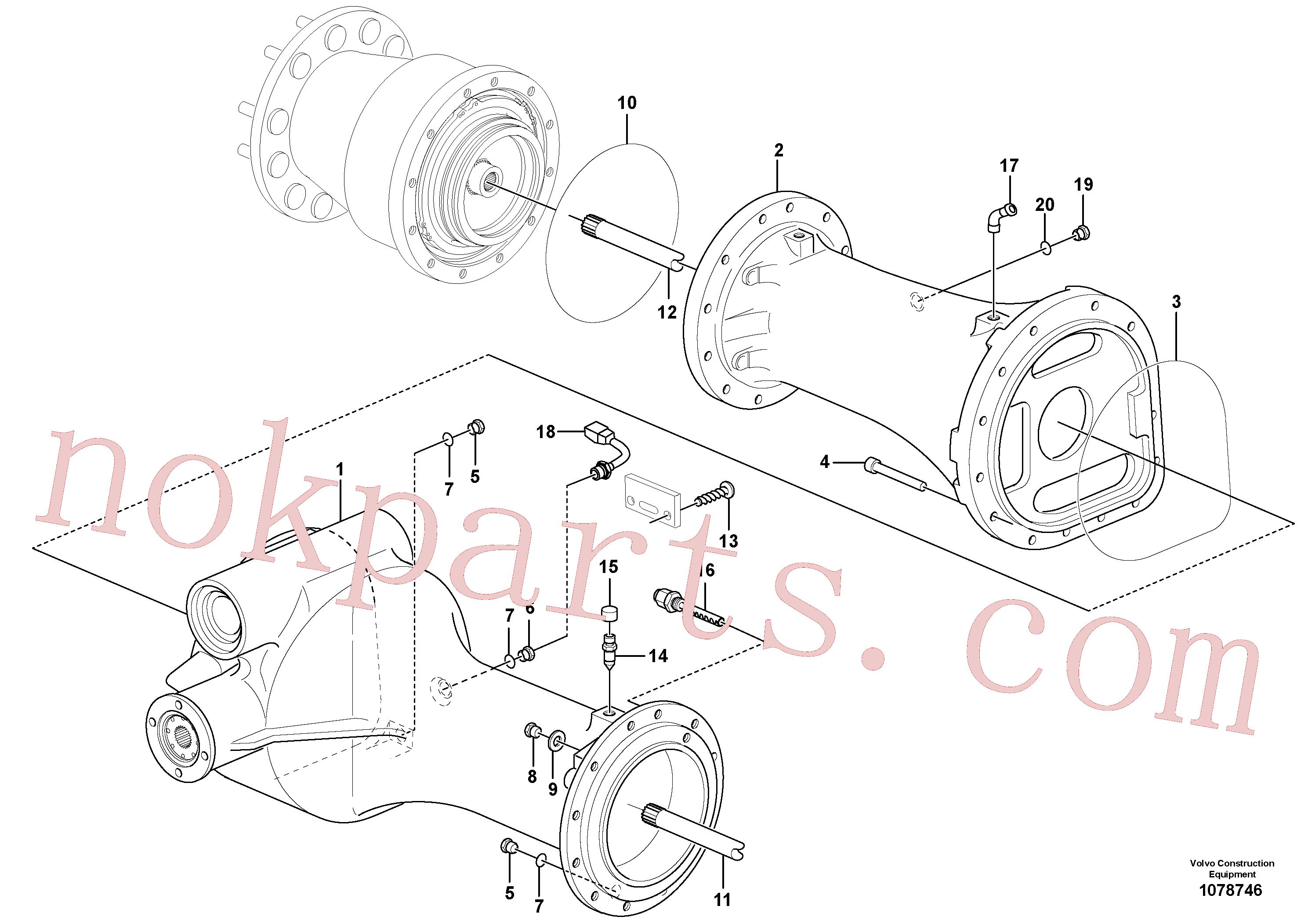 VOE56092 for Volvo Planetary axle, rear(1078746 assembly)