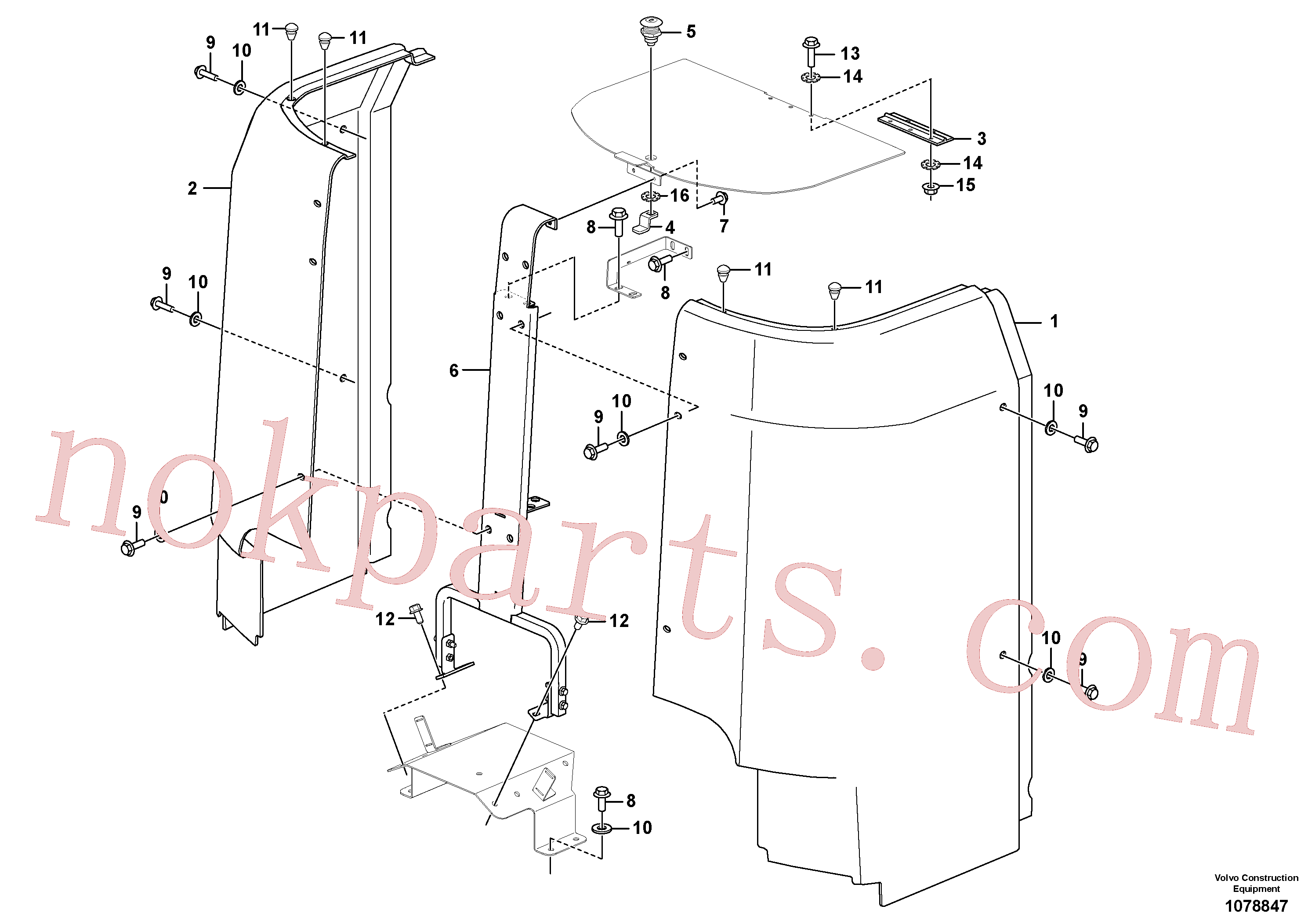 VOE12787930 for Volvo Installation Cowling(1078847 assembly)