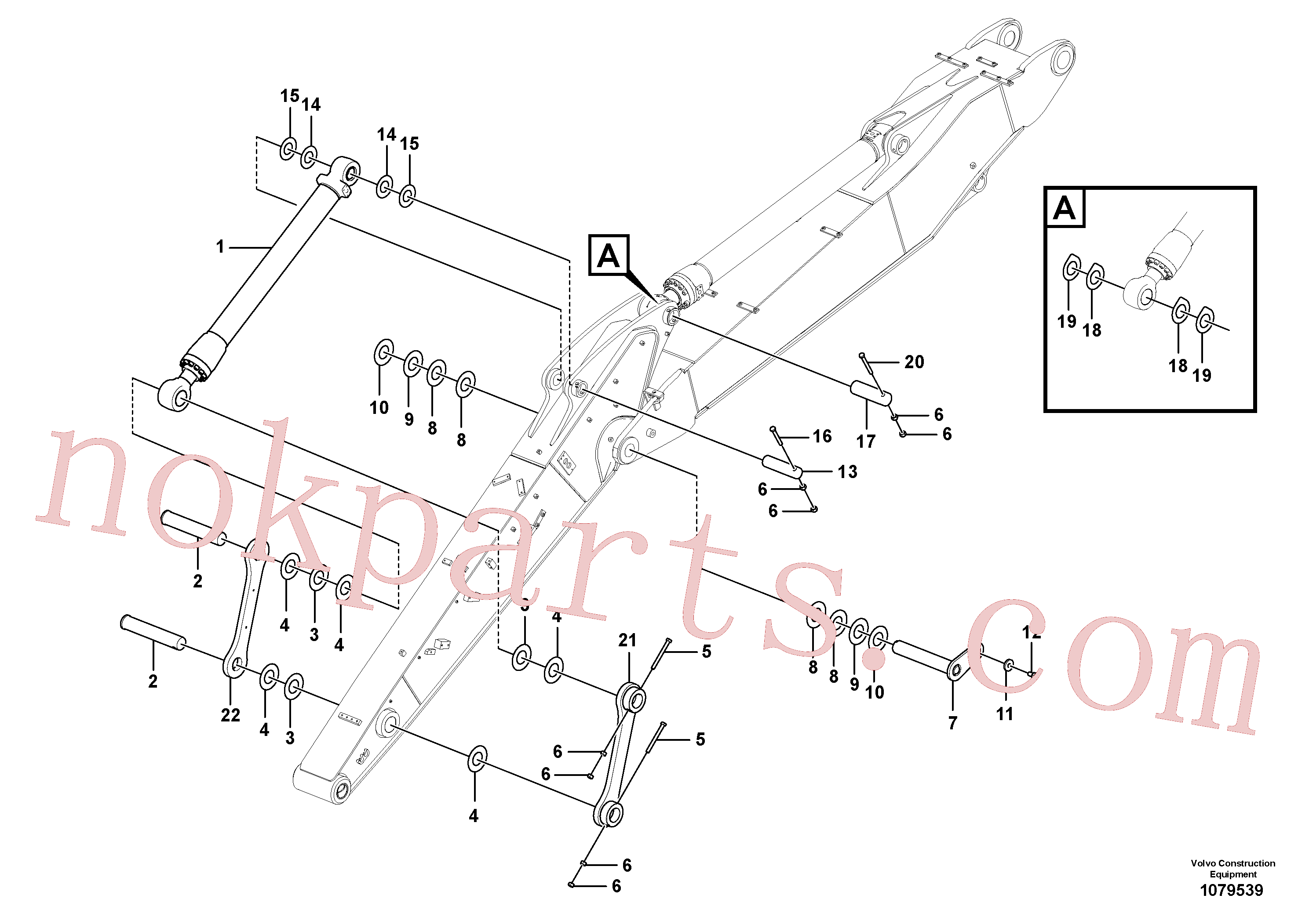 VOE14377910 for Volvo Links to dipper arm(1079539 assembly)