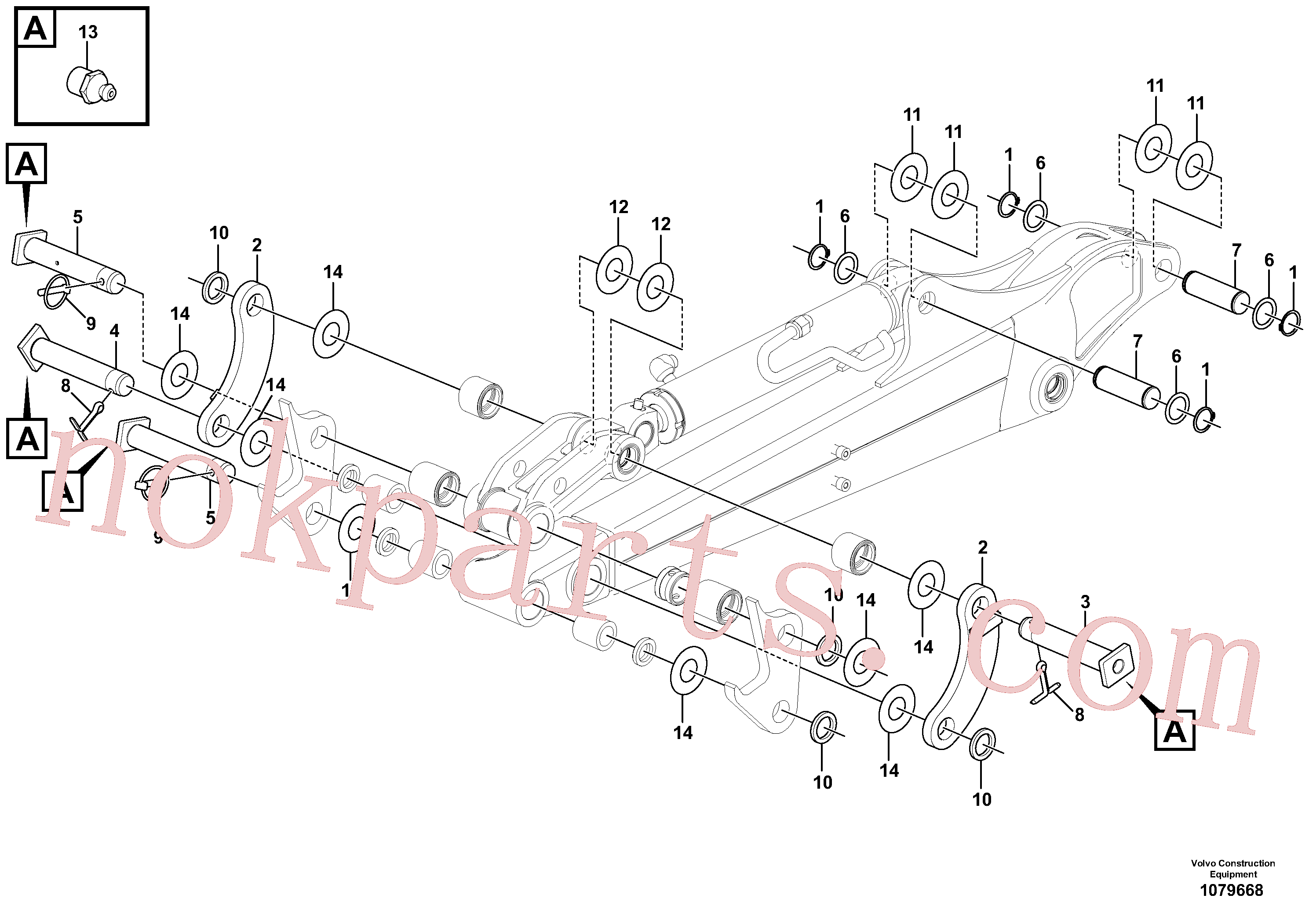 VOE11800196 for Volvo Links to dipper arm(1079668 assembly)