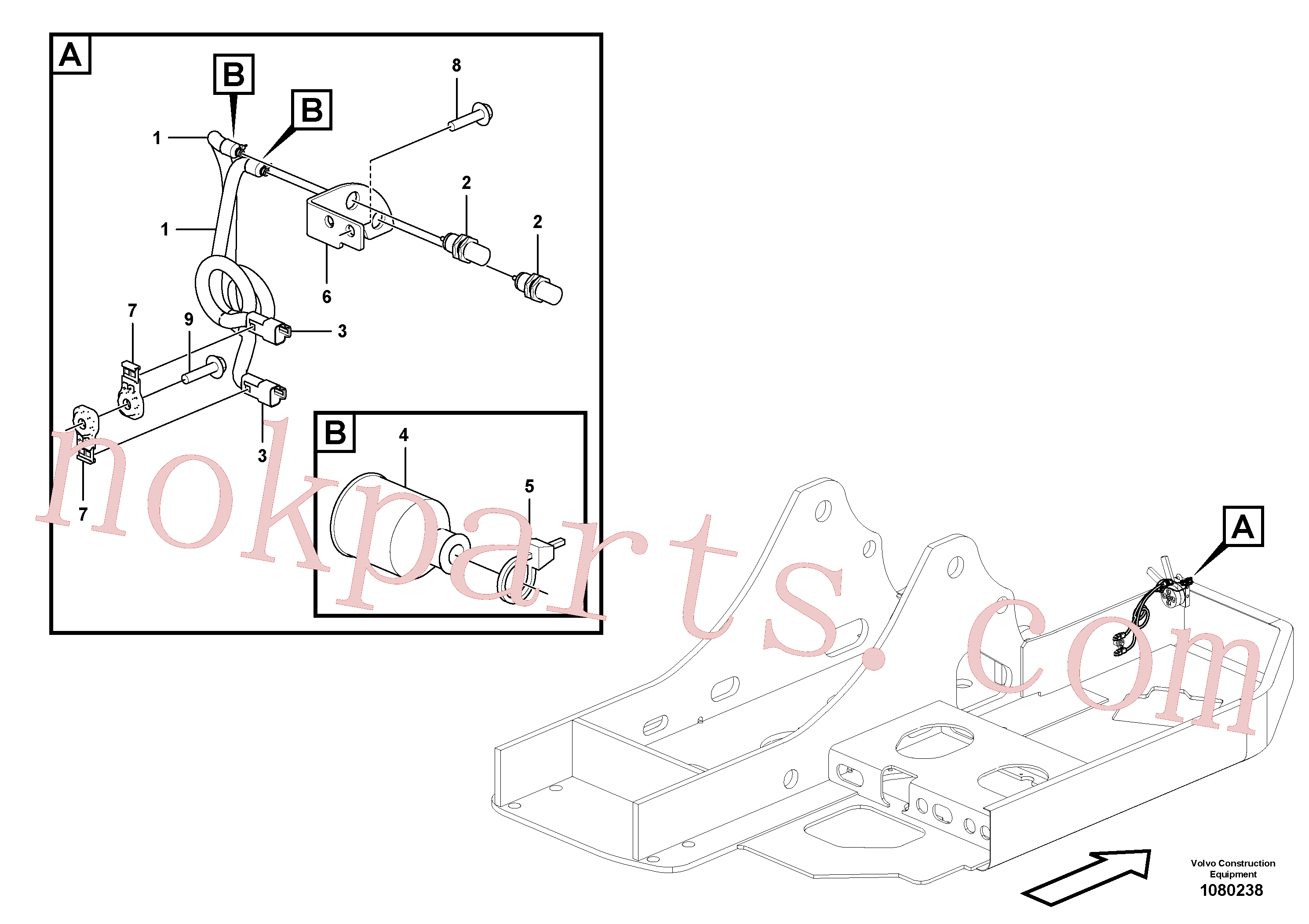 VOE14612682 for Volvo Electrical sensor(1080238 assembly)