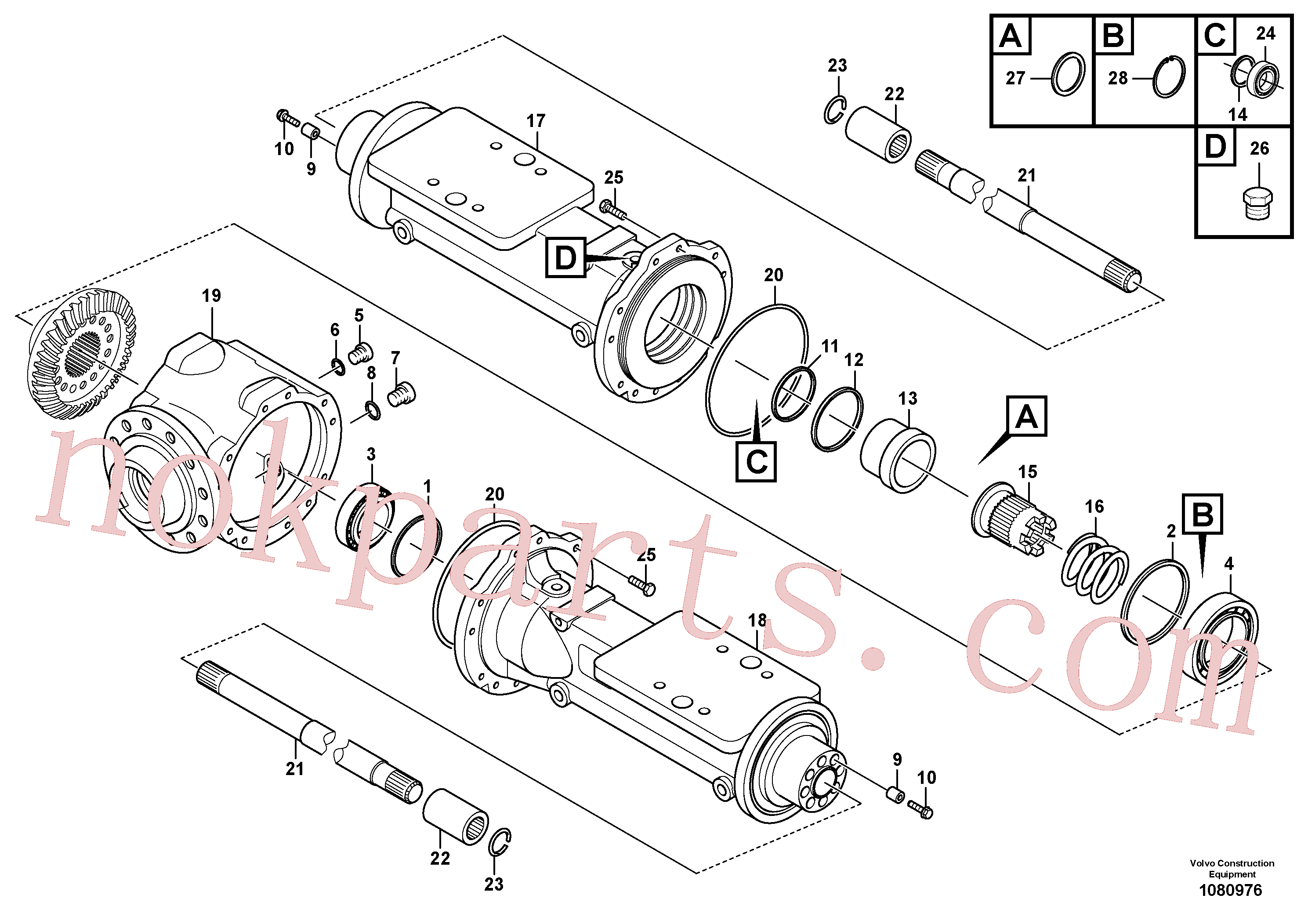 VOE15163305 for Volvo Housing - rear axle(1080976 assembly)