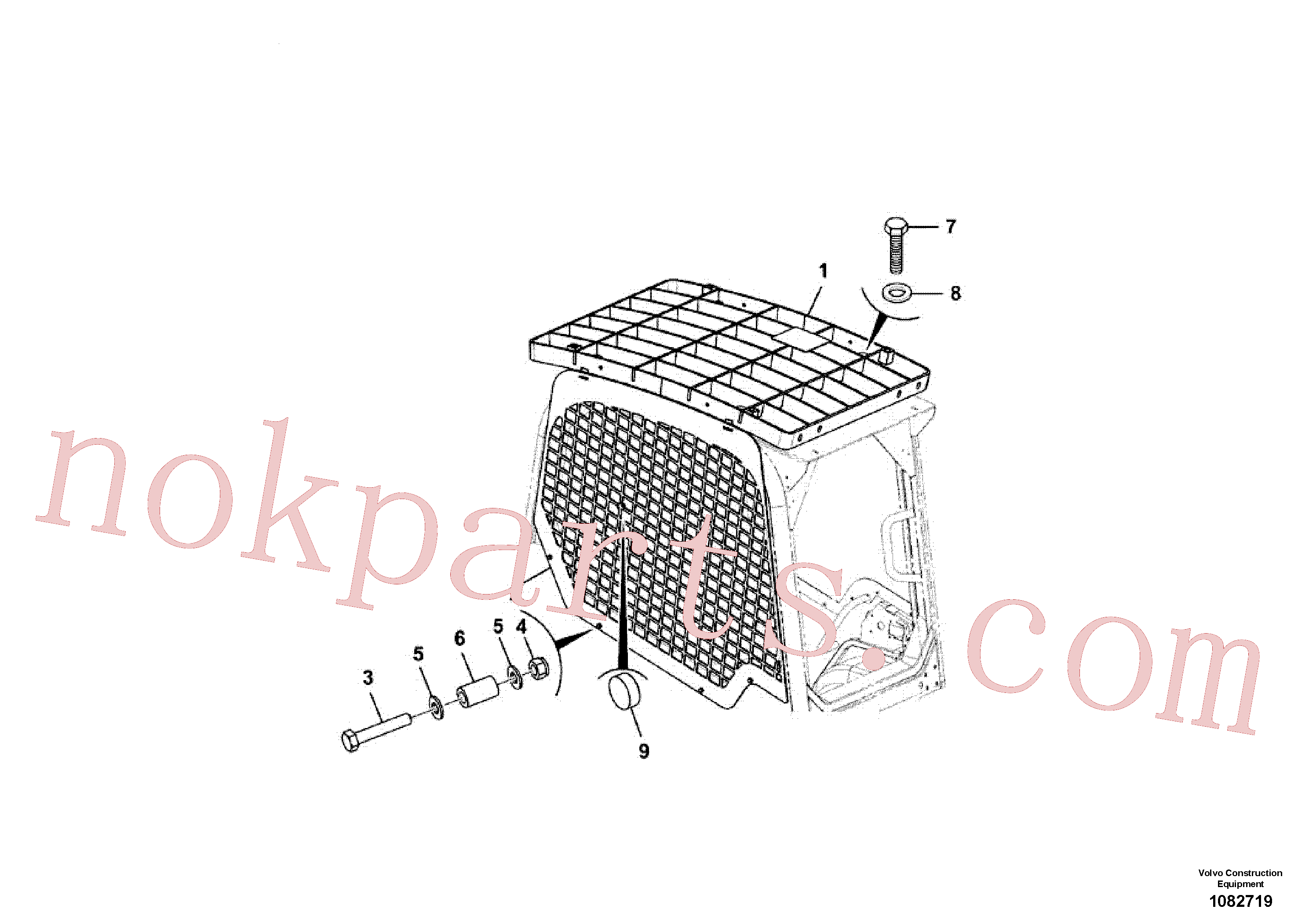 VOE16212085 for Volvo Roof, assembly, window guard(1082719 assembly)