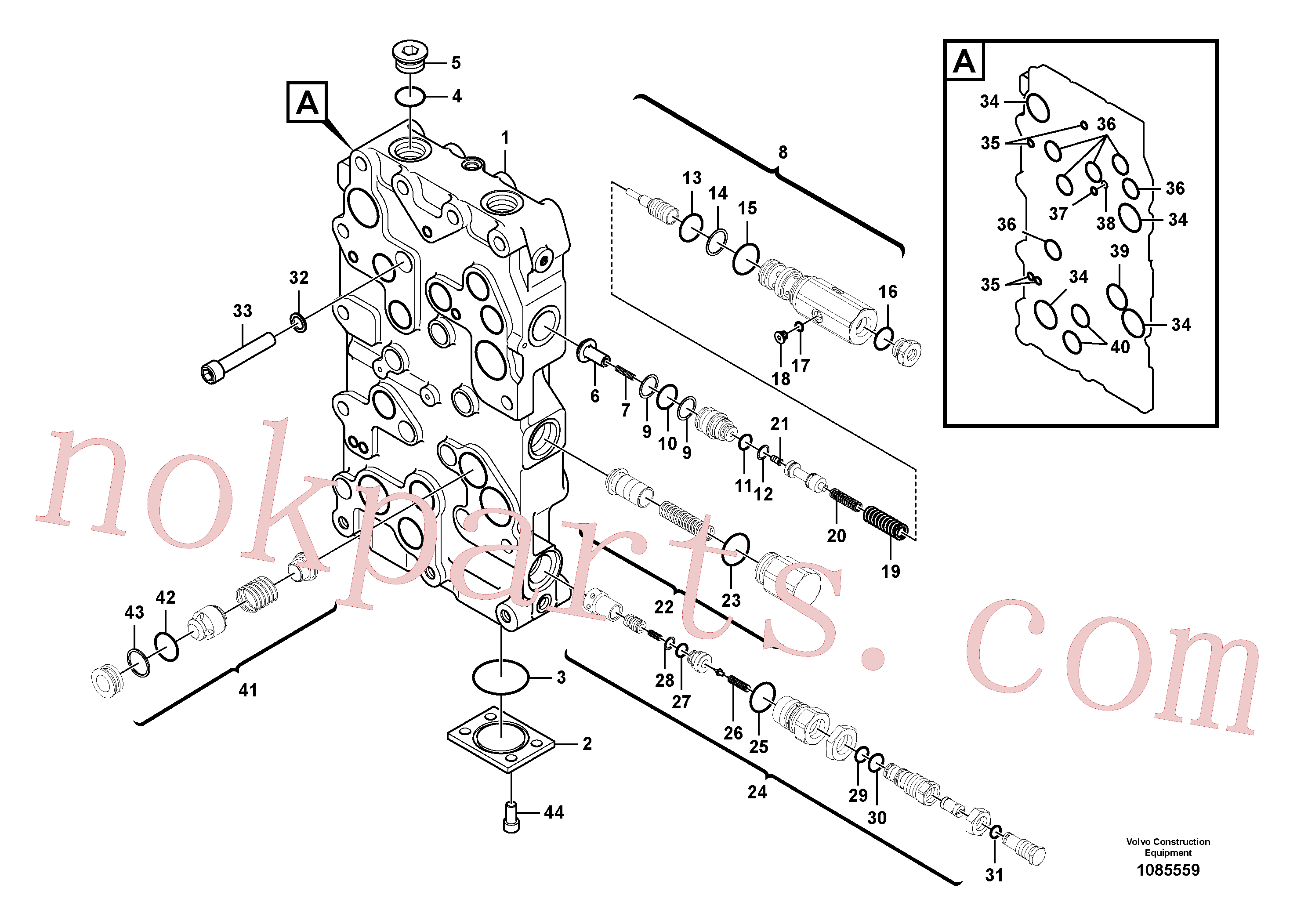 VOE14513155 for Volvo Main control valve(1085559 assembly)