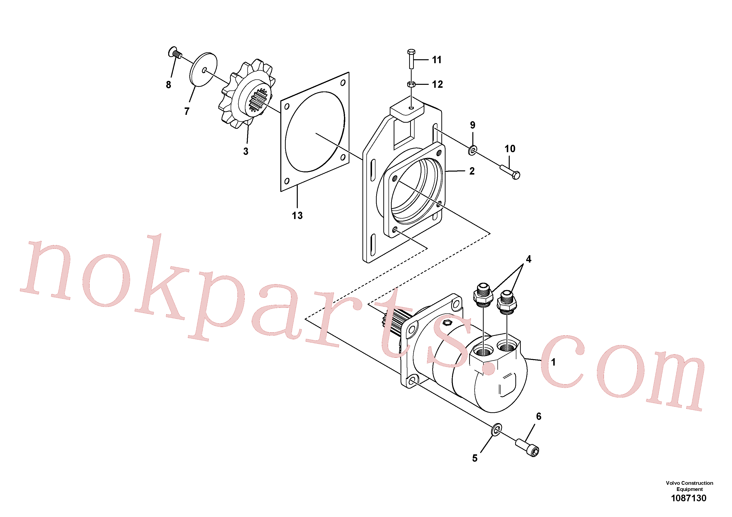 RM13339858 for Volvo High Torque Auger Motor Installation(1087130 assembly)