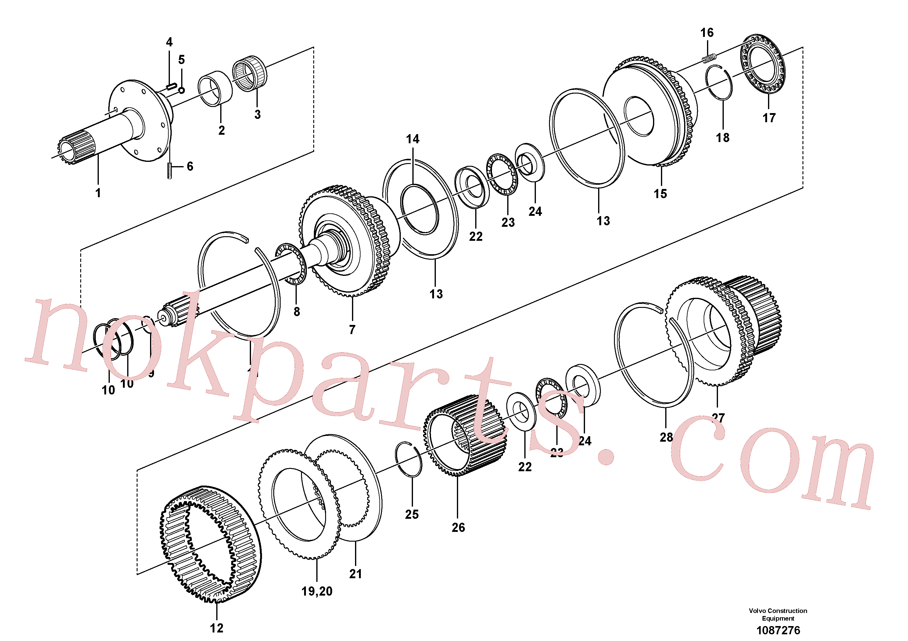 VOE11145596 for Volvo Clutch and brake(1087276 assembly)