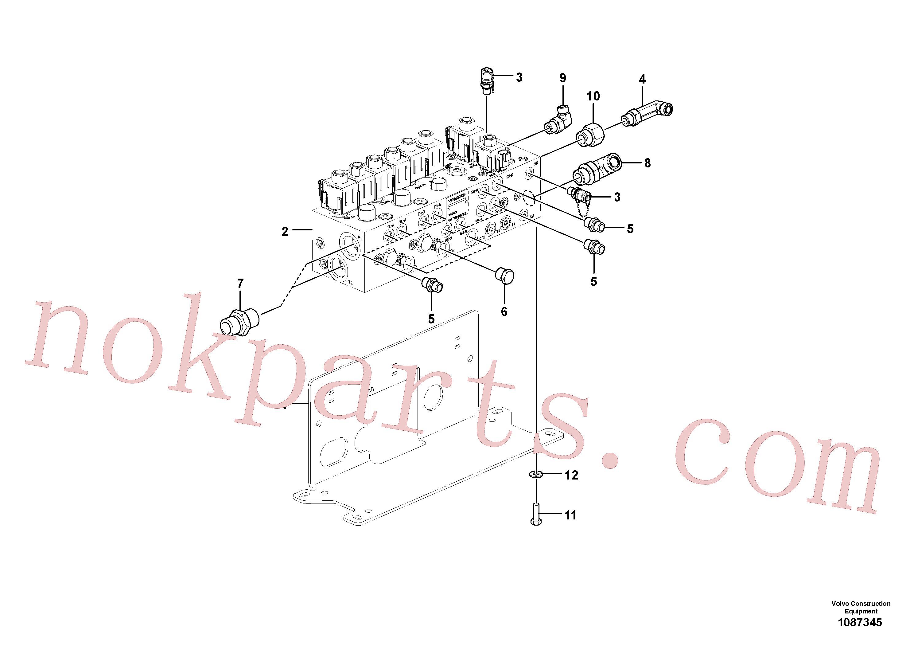 RM59924423 for Volvo Valve(1087345 assembly)