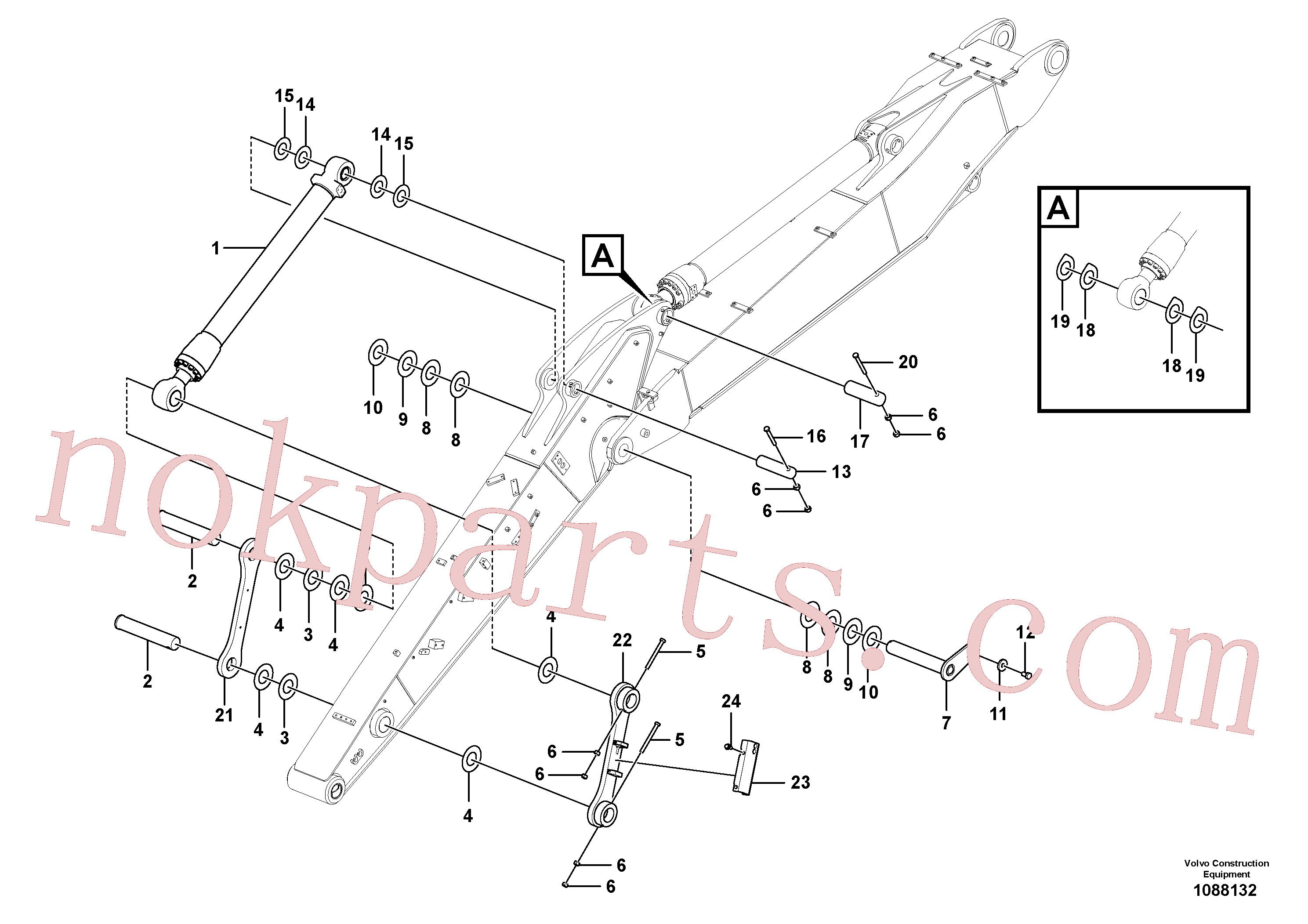 VOE14377912 for Volvo Links to dipper arm(1088132 assembly)