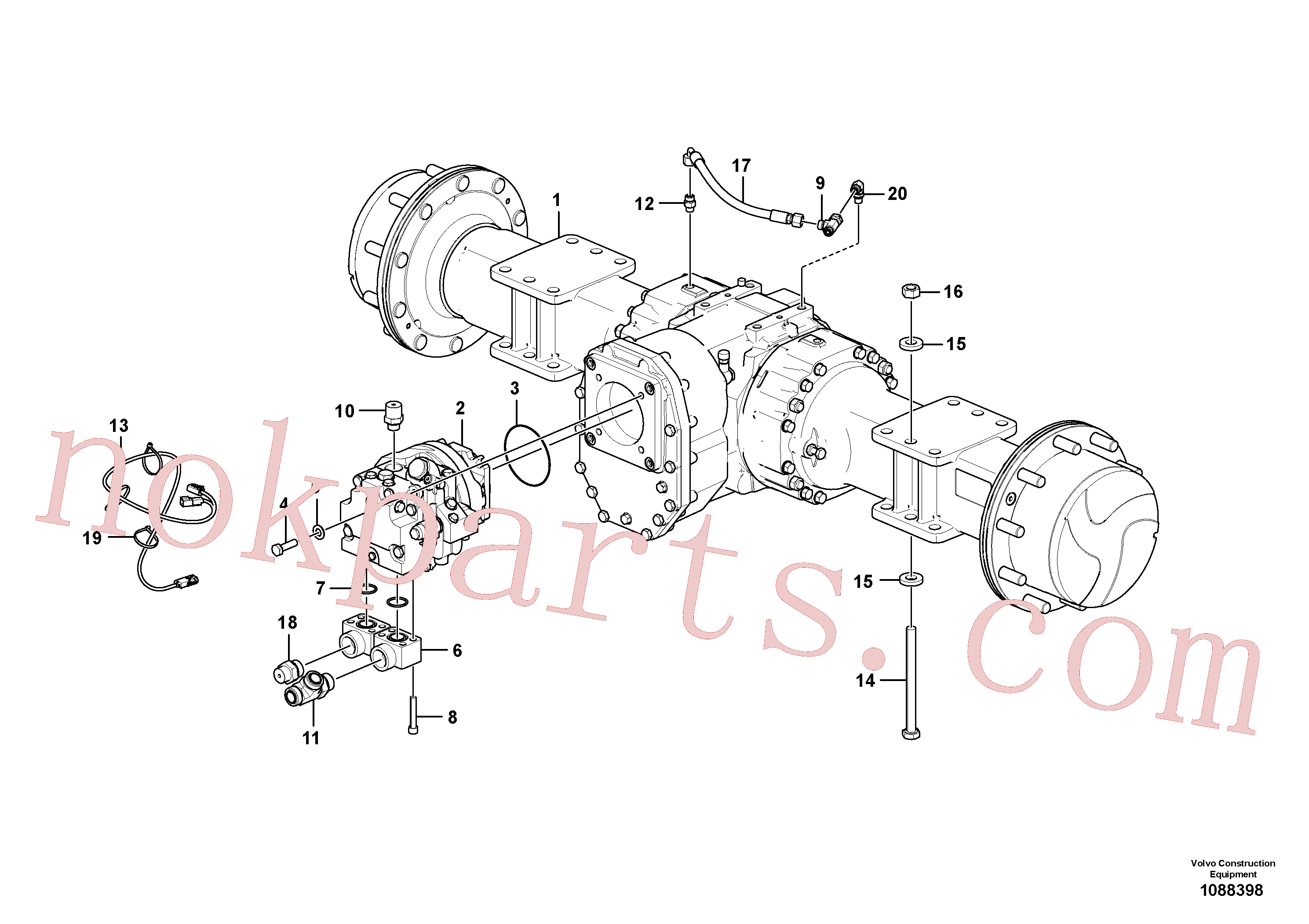 RM96734272 for Volvo Axle Installation(1088398 assembly)