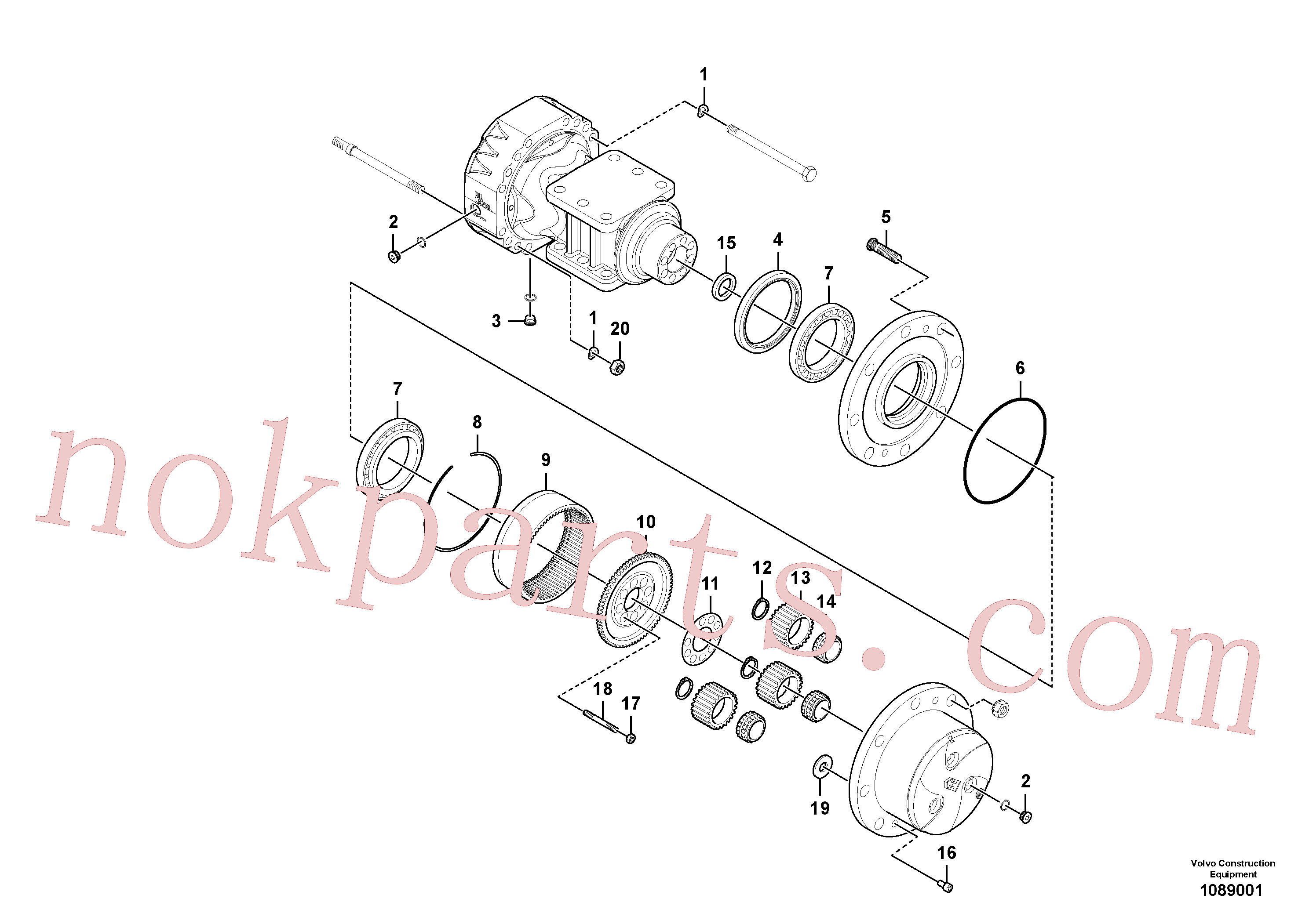 RM13494265 for Volvo Rear axle, Hub reduction(1089001 assembly)