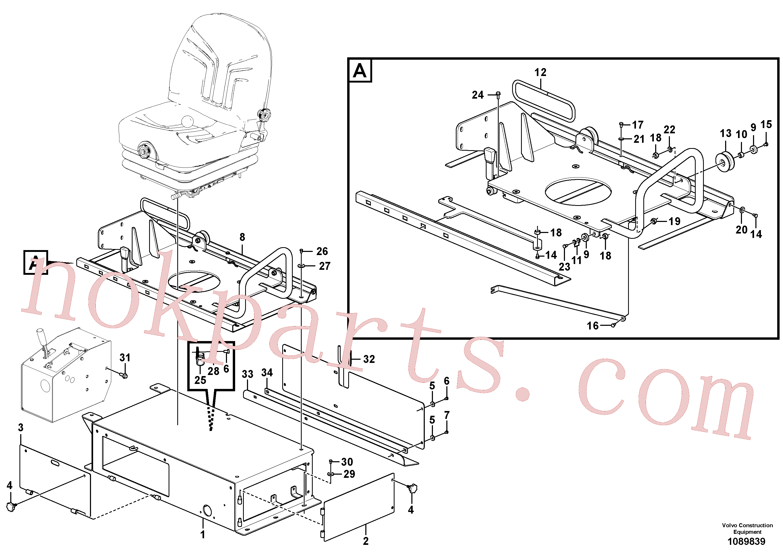 VOE50829654 for Volvo Deck Installation(1089839 assembly)