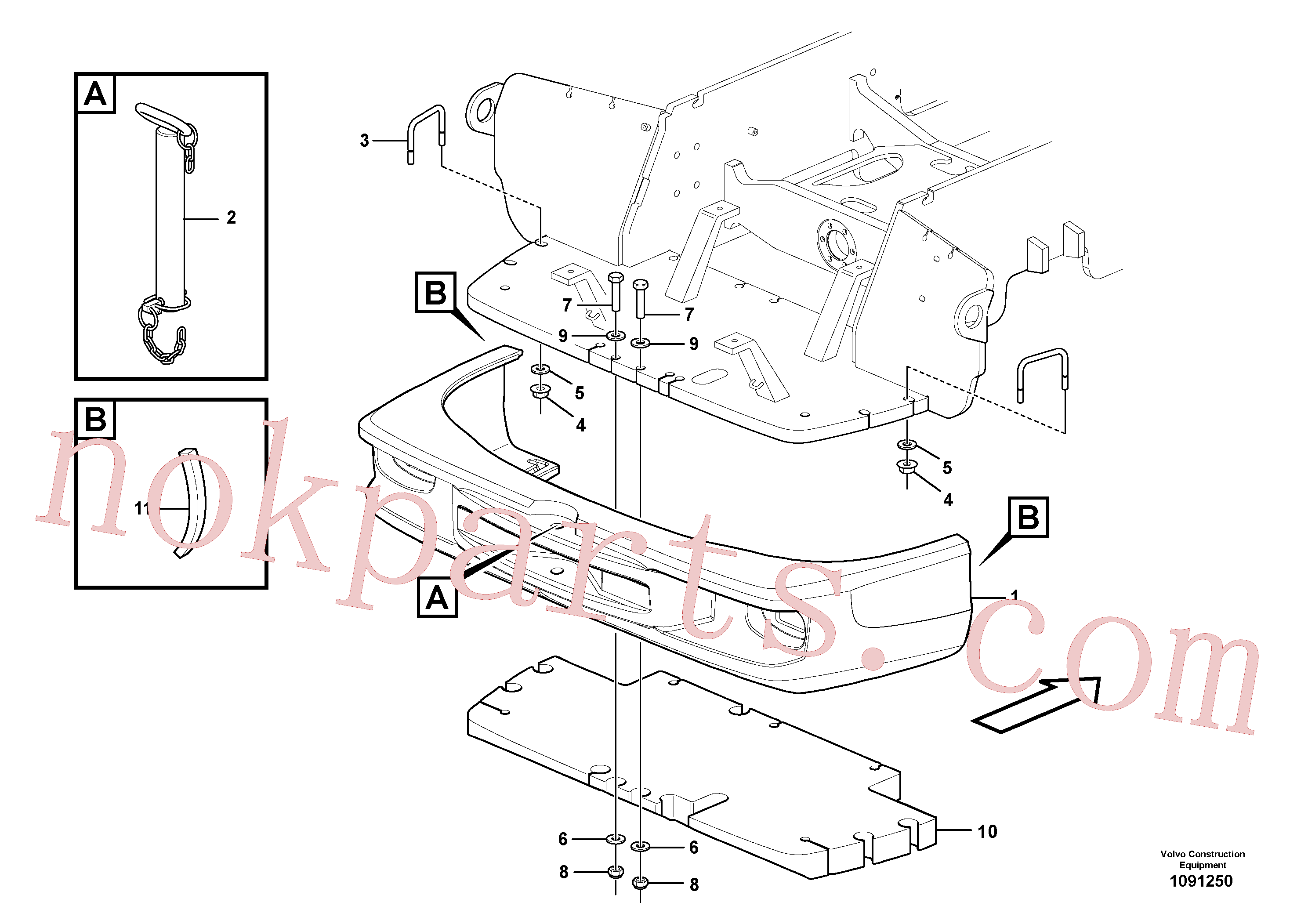PJ4410041 for Volvo Counterweights(1091250 assembly)