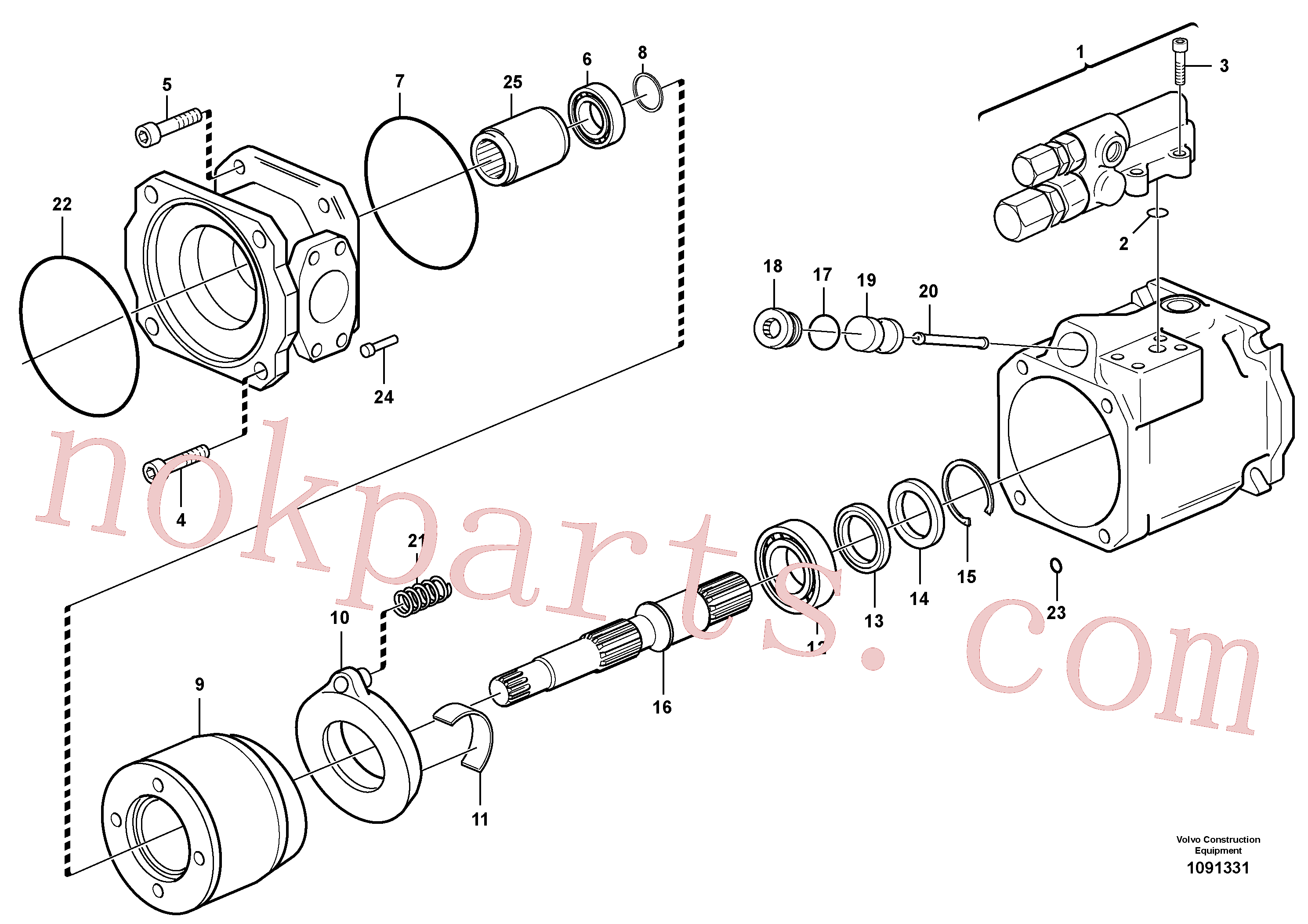 VOE11998662 for Volvo Hydraulic pump(1091331 assembly)