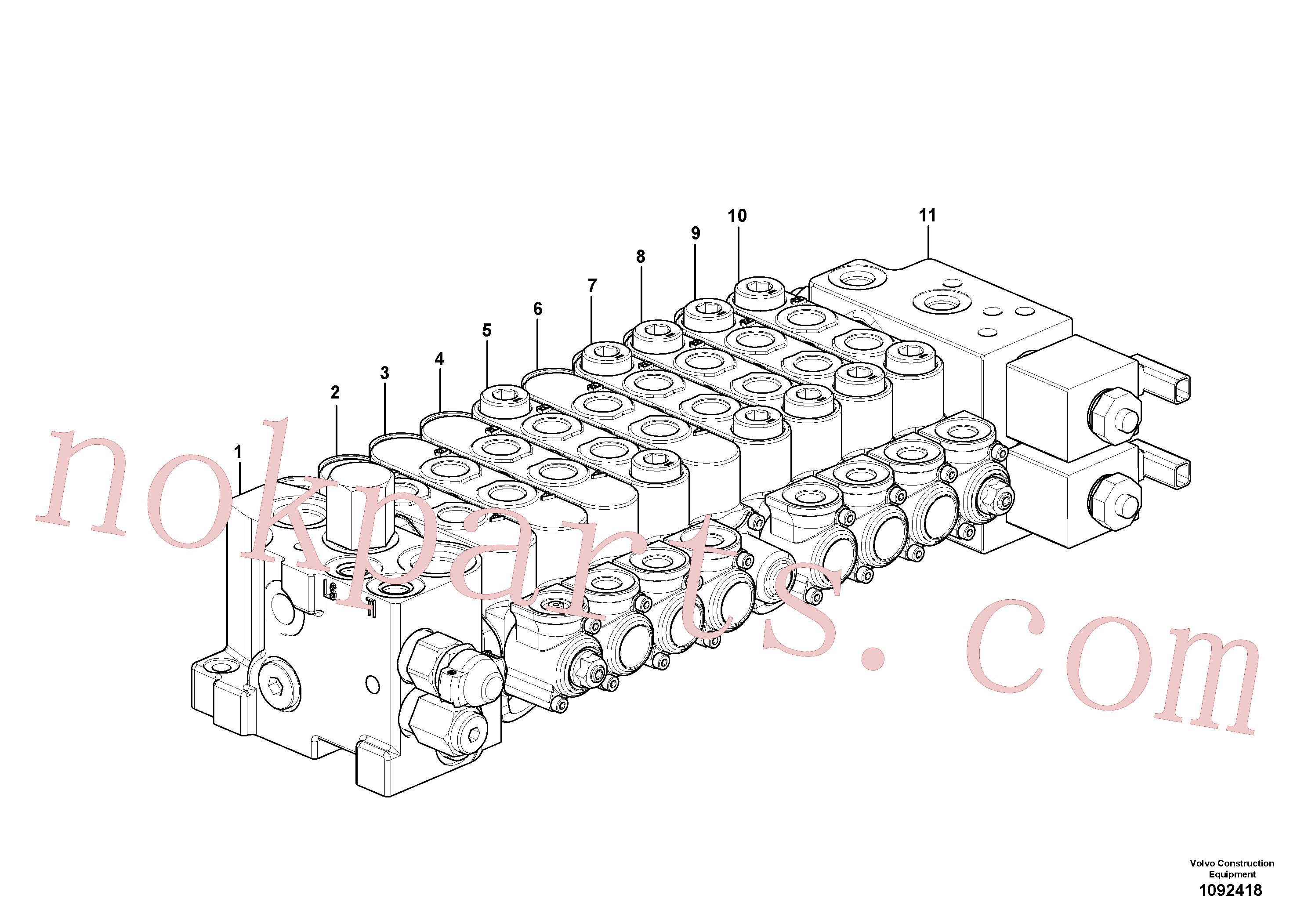 VOE15182858 for Volvo Control valve(1092418 assembly)