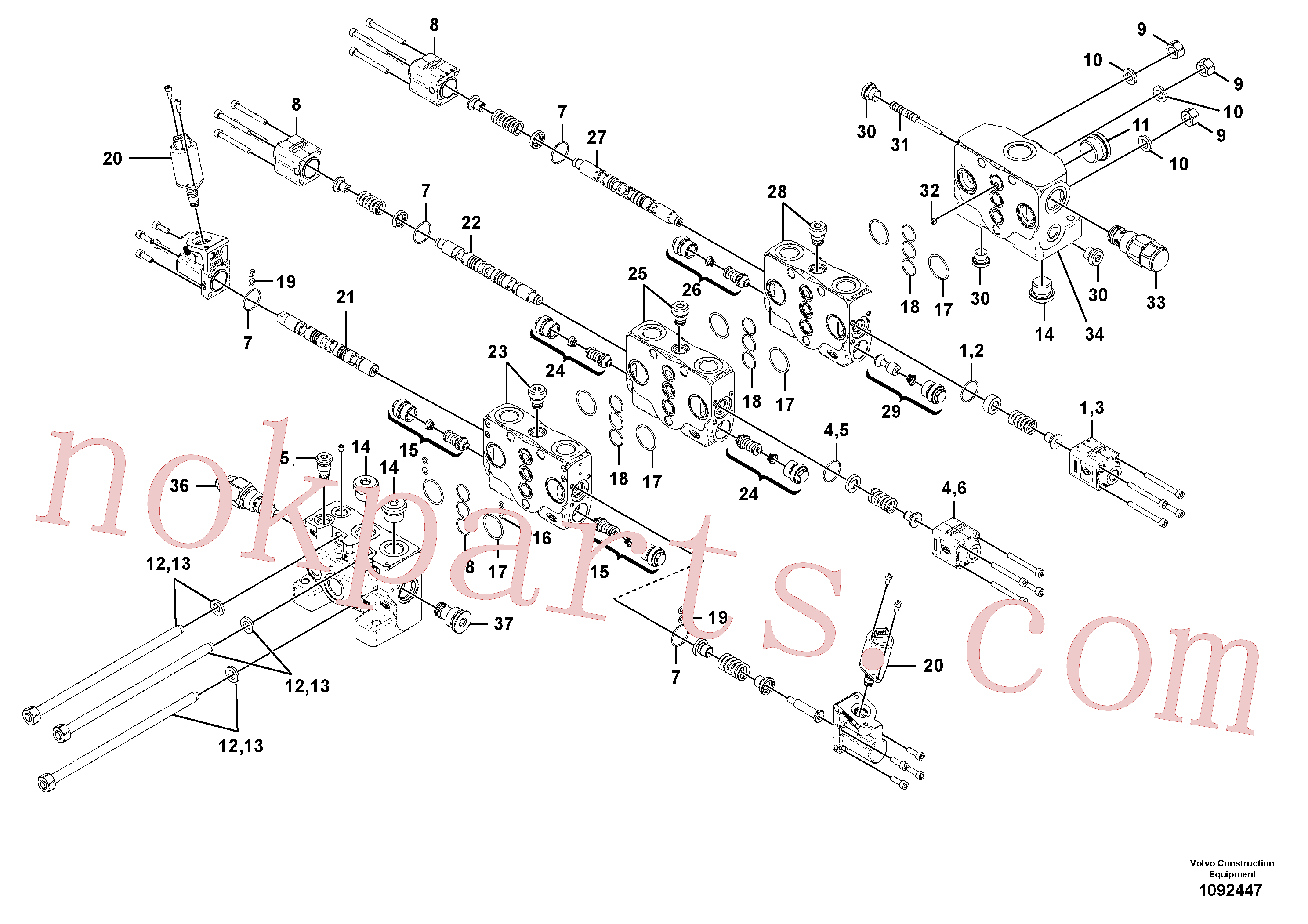 VOE11370782 for Volvo Valve(1092447 assembly)