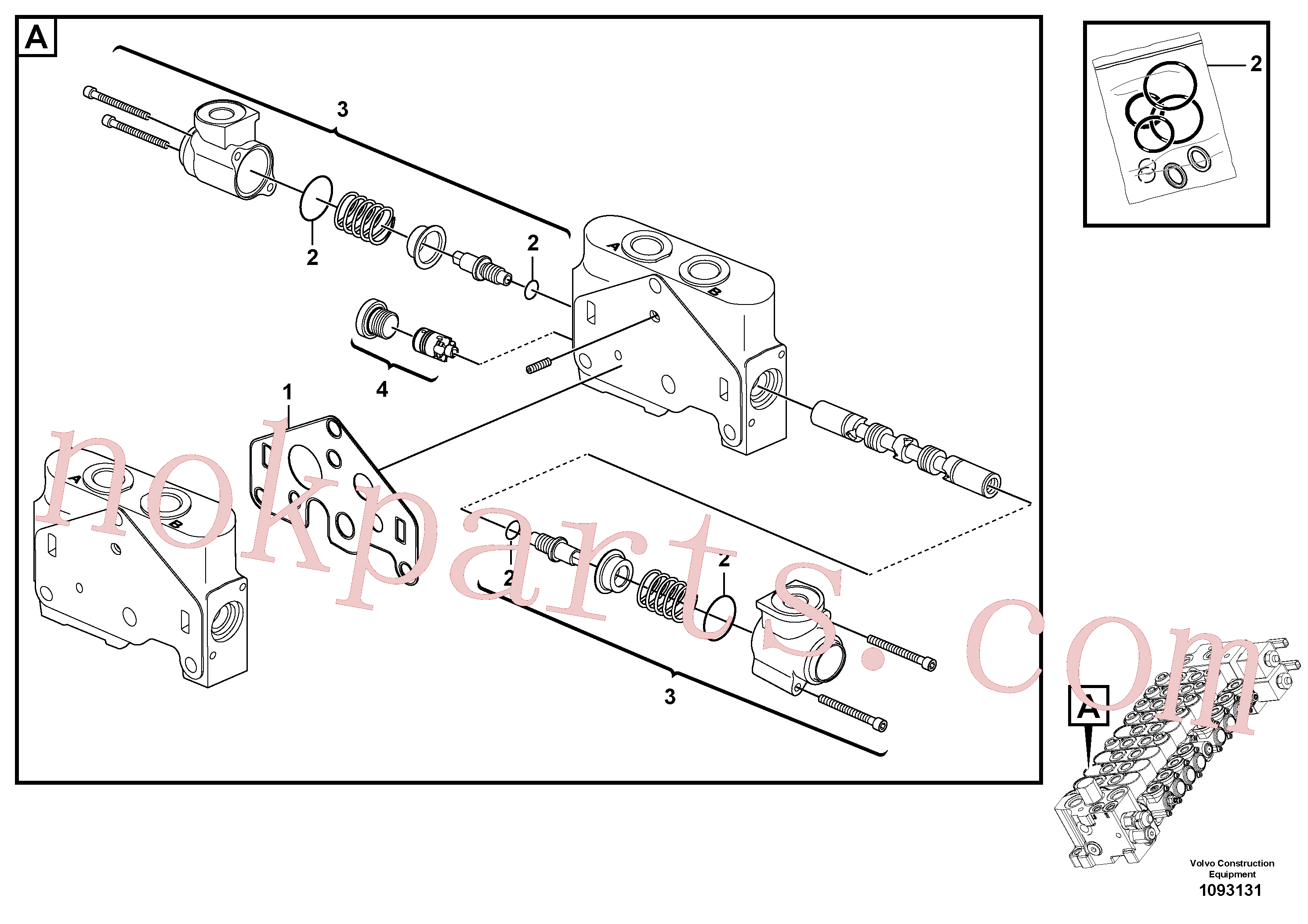 VOE15182858 for Volvo Valve section(1093131 assembly)