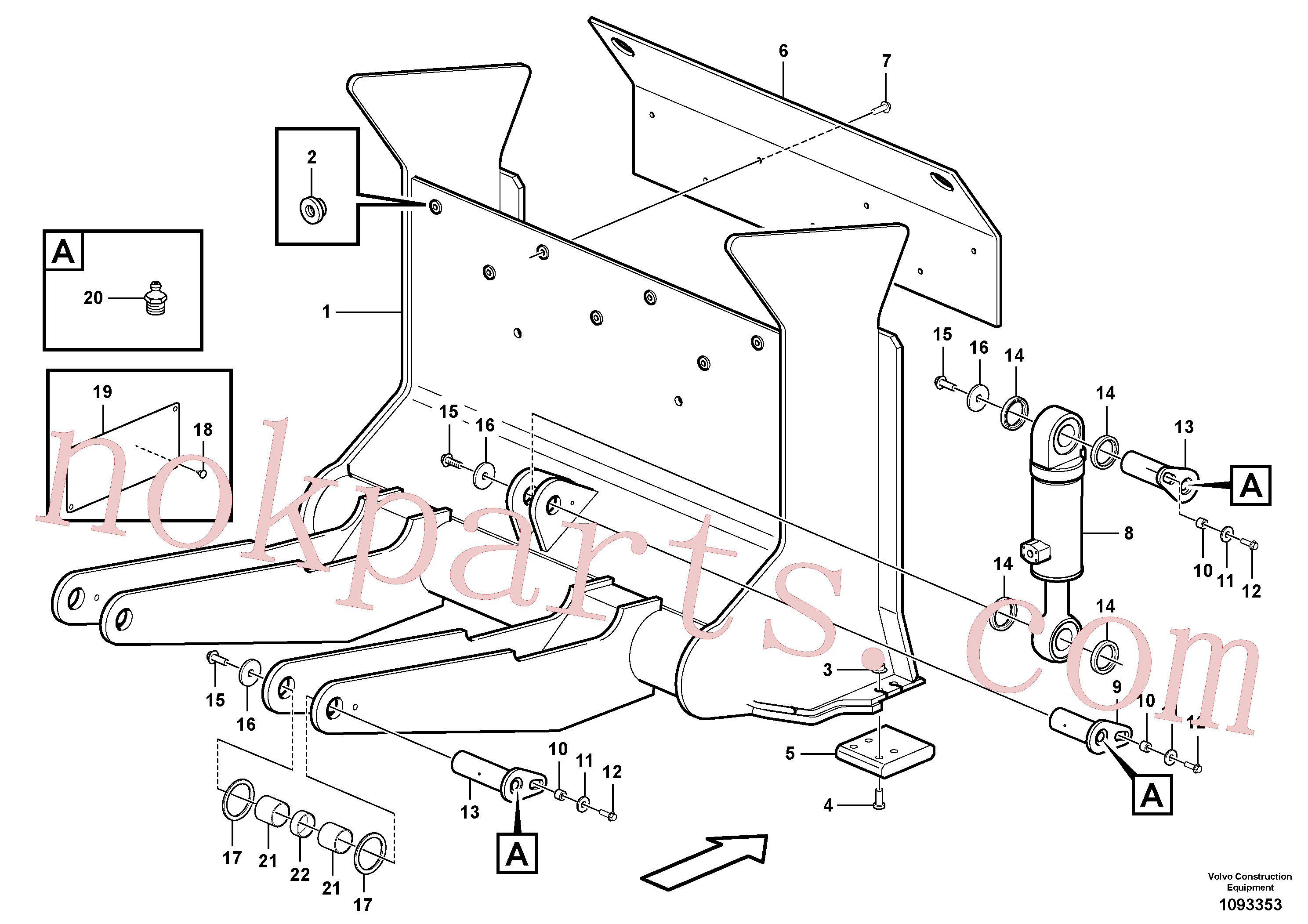 VOE11704121 for Volvo Timber shover(1093353 assembly)