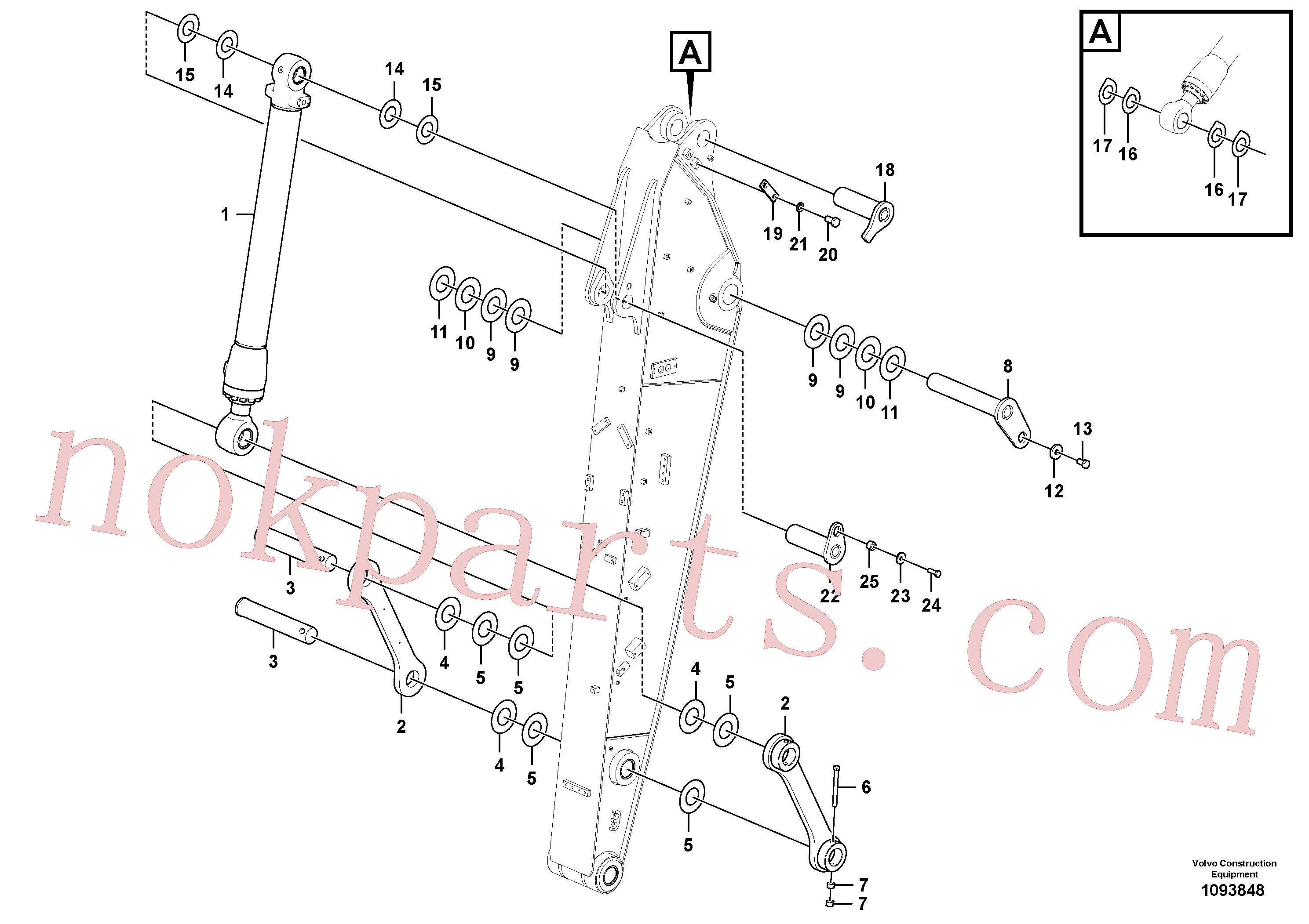 VOE14377912 for Volvo Links to dipper arm(1093848 assembly)