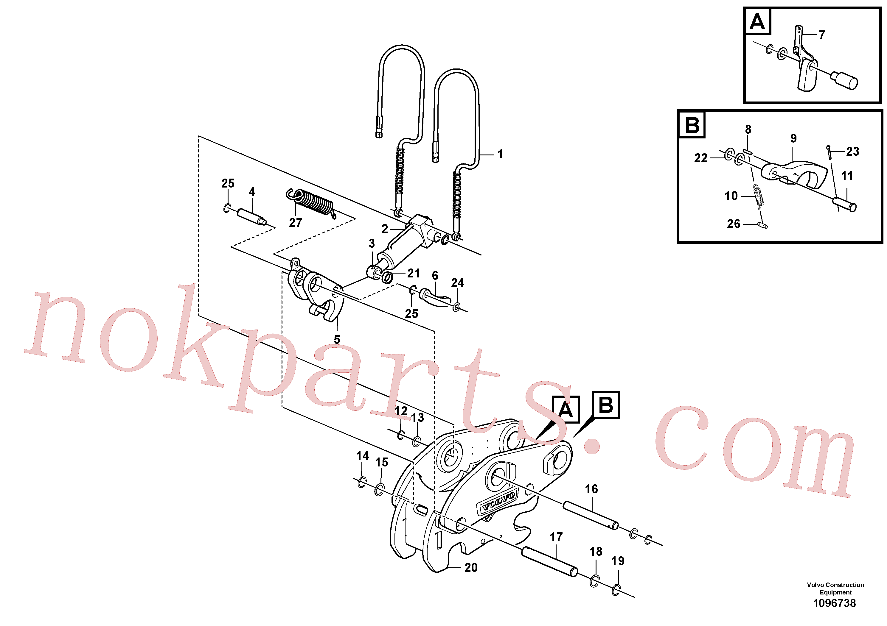 VOE17415395 for Volvo Attachment bracket, quickfit(1096738 assembly)