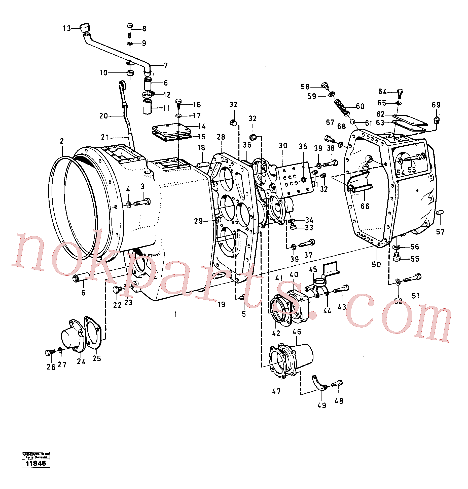 VOE14014888 for Volvo Housing,covers and boltings(11845 assembly)