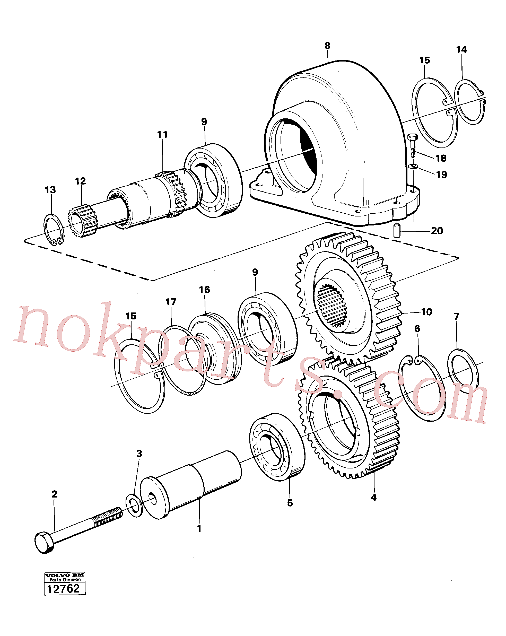 VOE914528 for Volvo Charging oil-pump drive prod no 30804(12762 assembly)