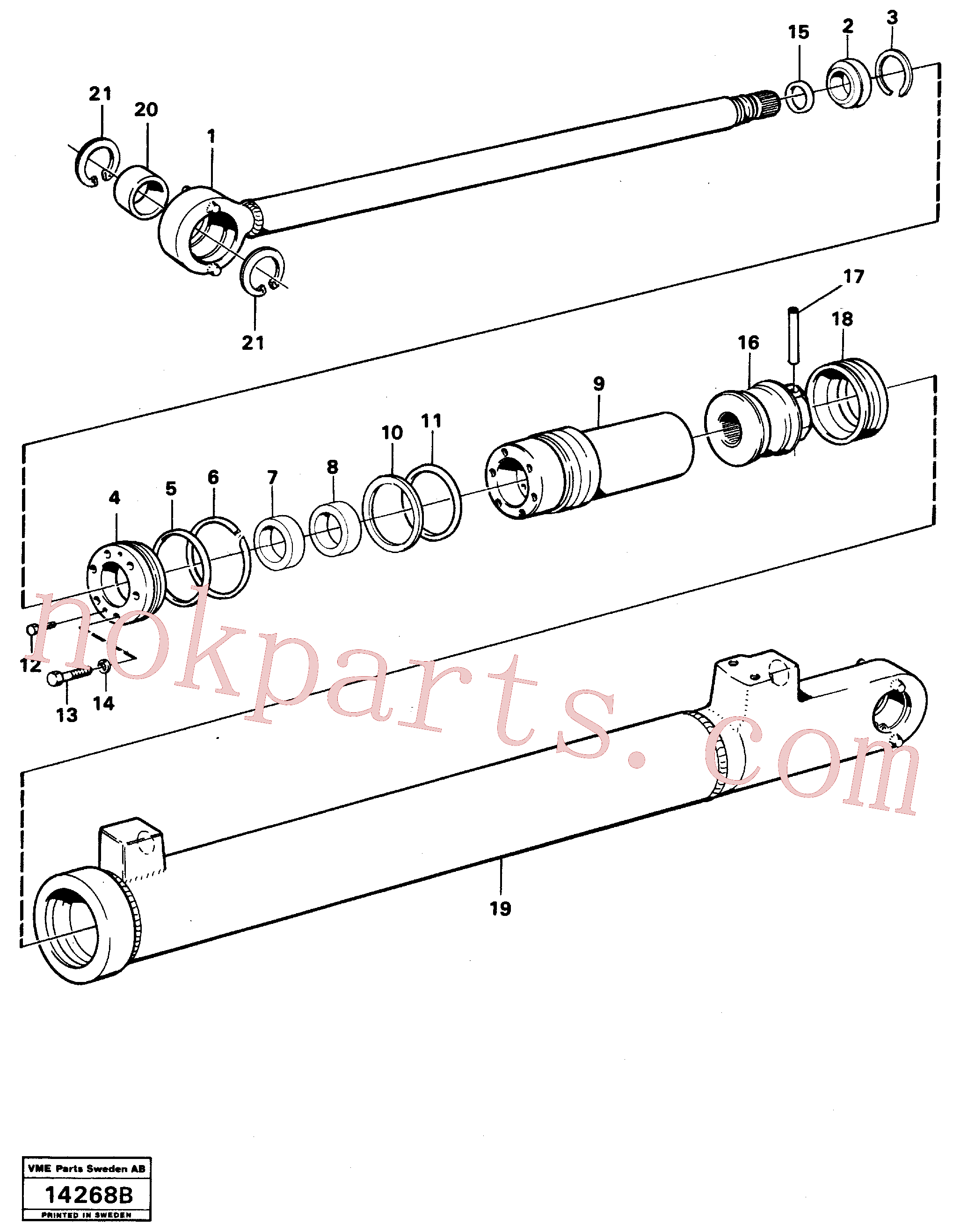 VOE960172 for Volvo Hydraulic cylinder, lifting.(14268B assembly)