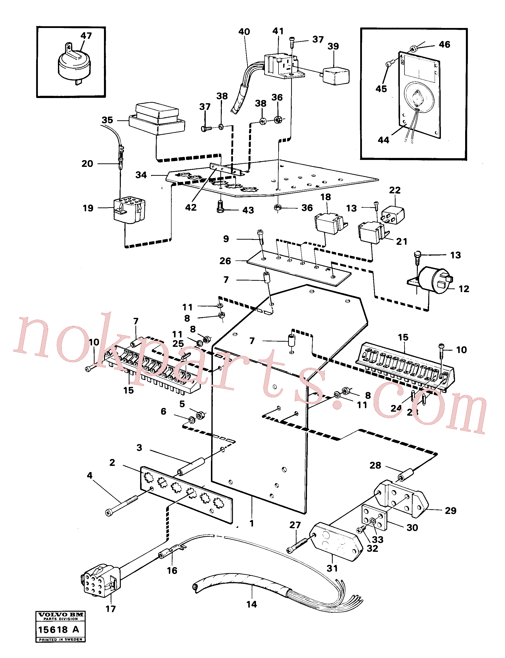 VOE946556 for Volvo Electrical distribution box(15618A assembly)