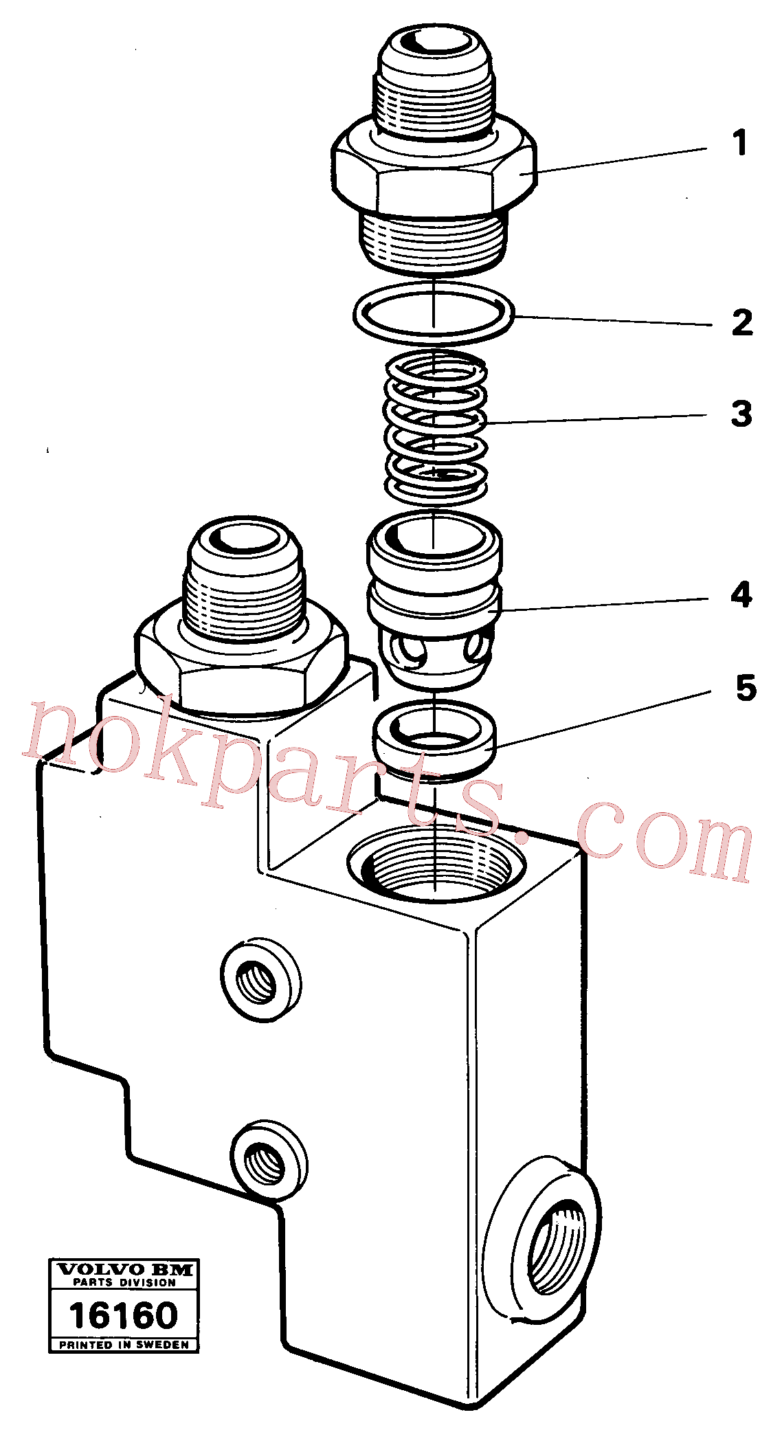 VOE1522550 for Volvo Check valve(16160 assembly)