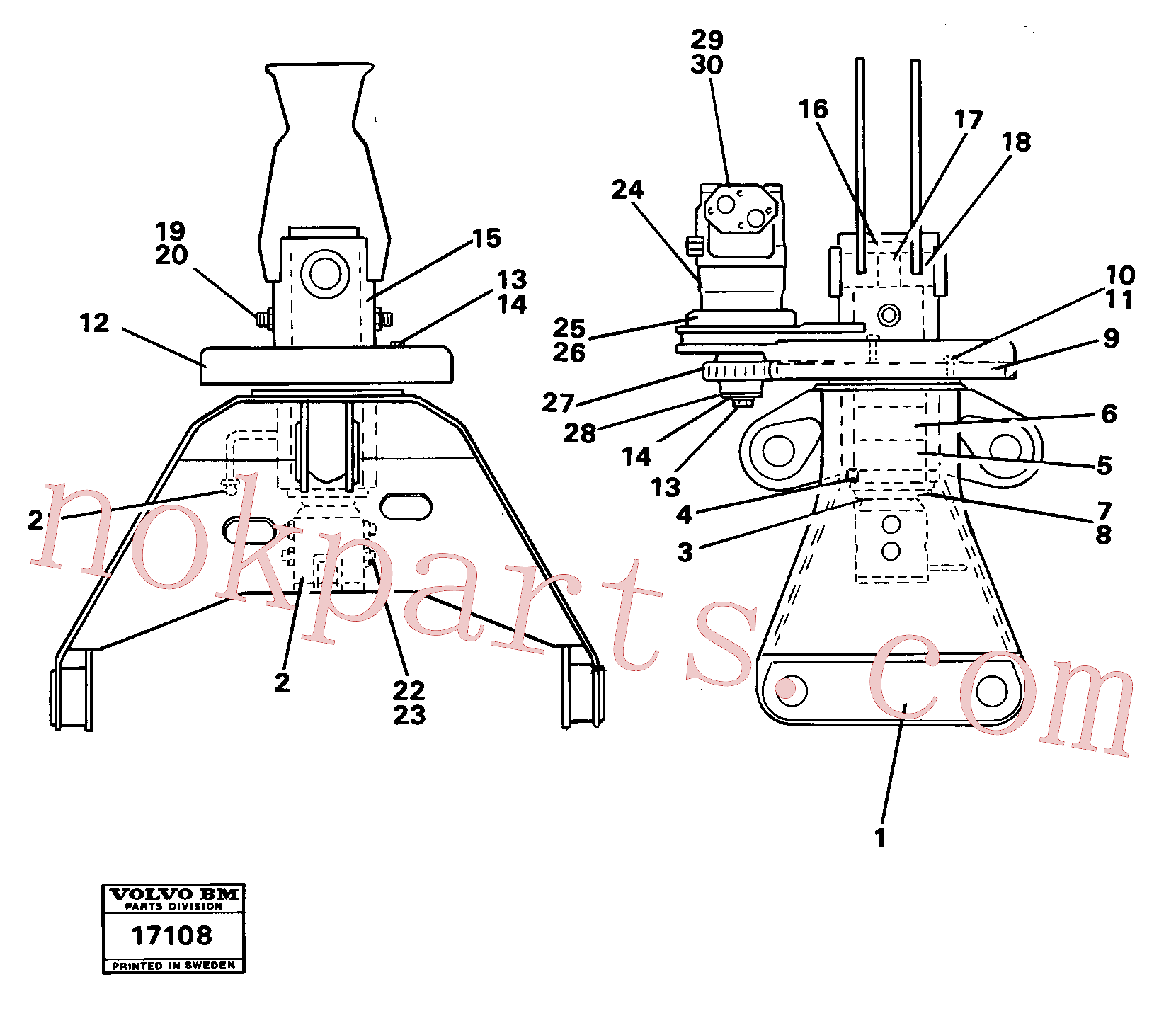 VOE4807056 for Volvo Rotator(17108 assembly)