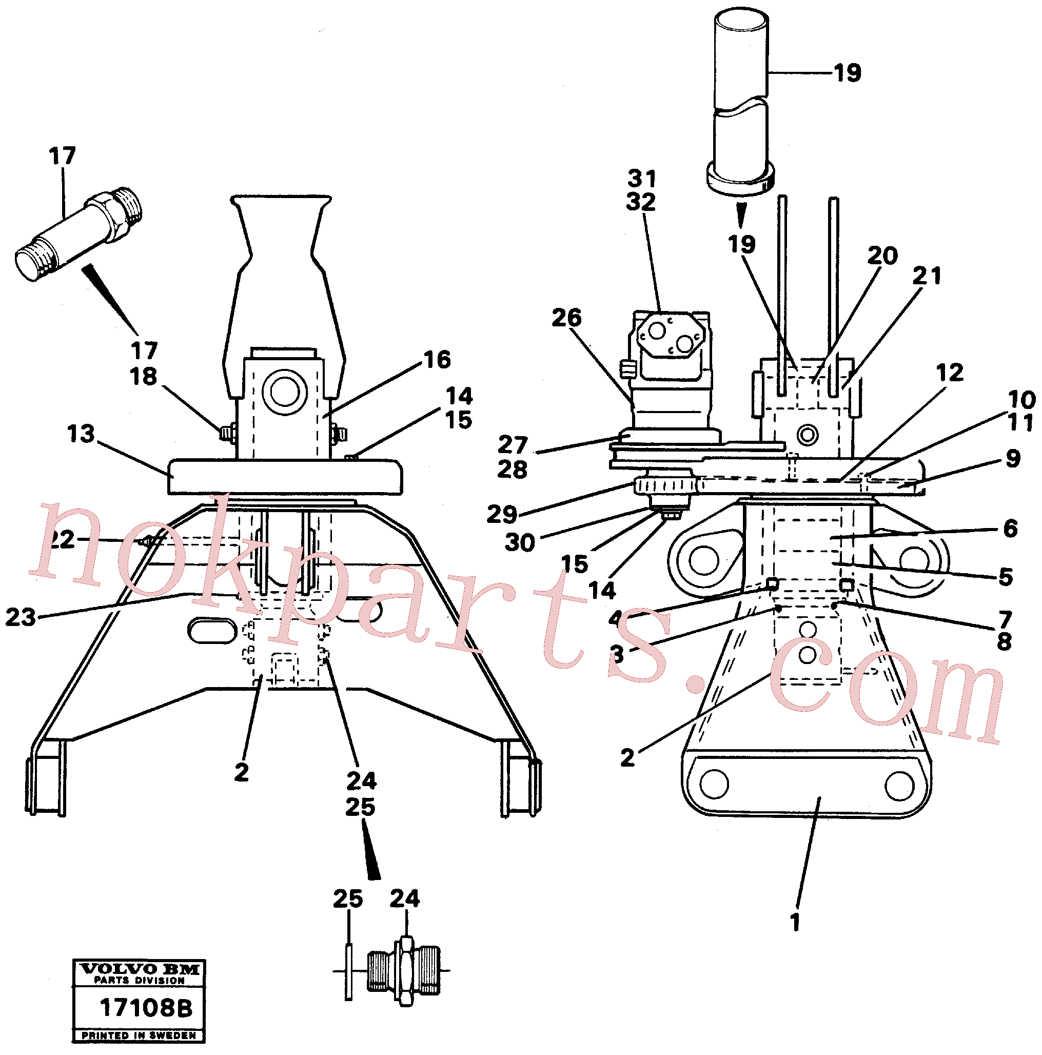 VOE4807056 for Volvo Rotator.(17108B assembly)