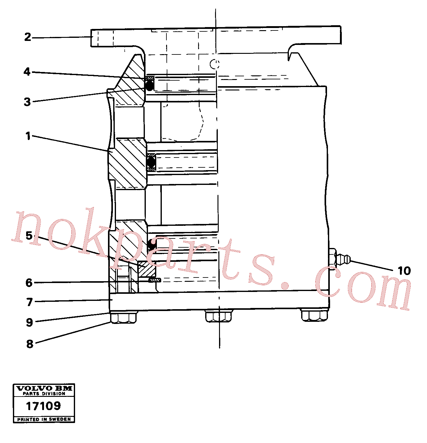 VOE4807056 for Volvo Swivel(17109 assembly)