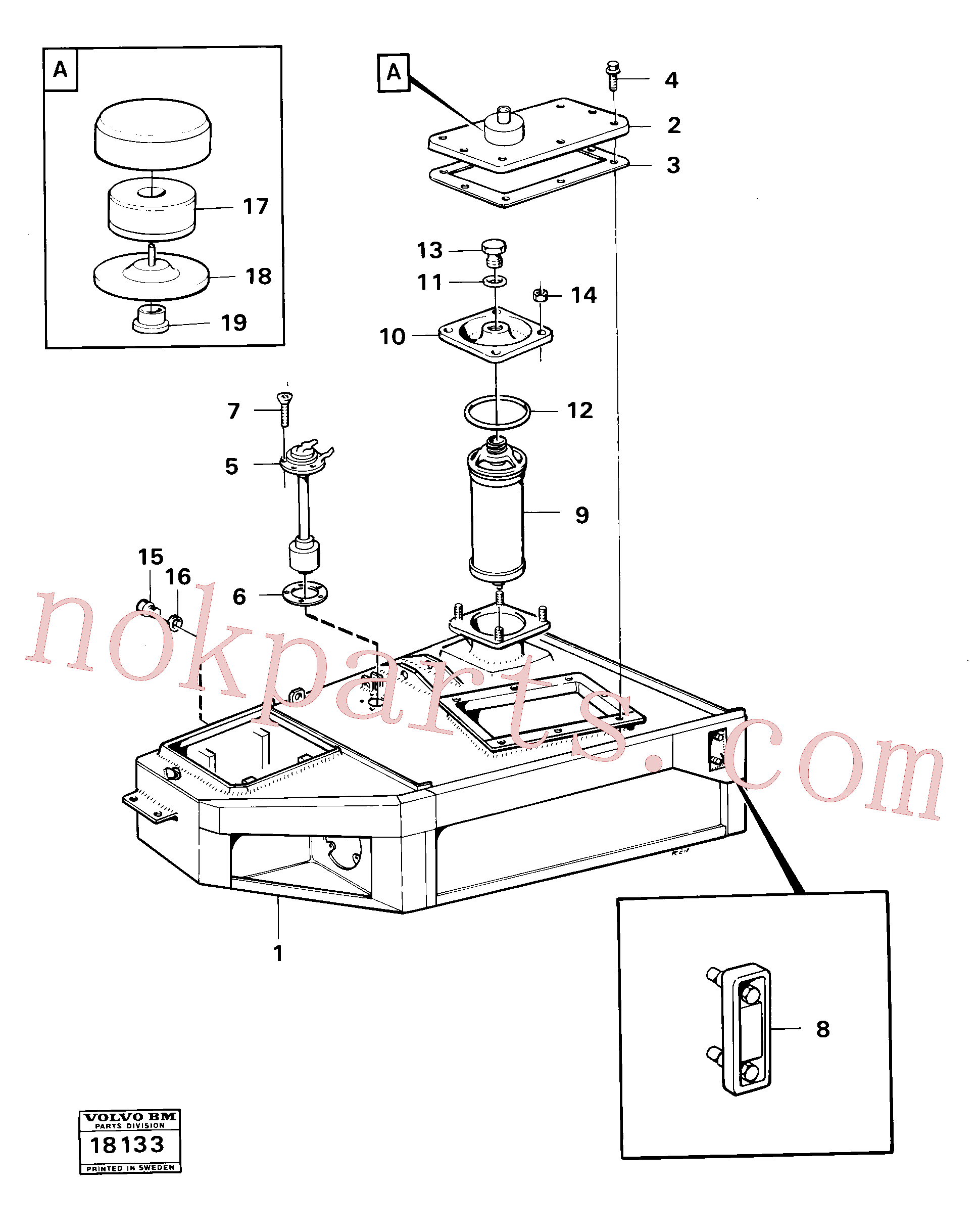 VOE11991336 for Volvo Hydraulic tank(18133 assembly)