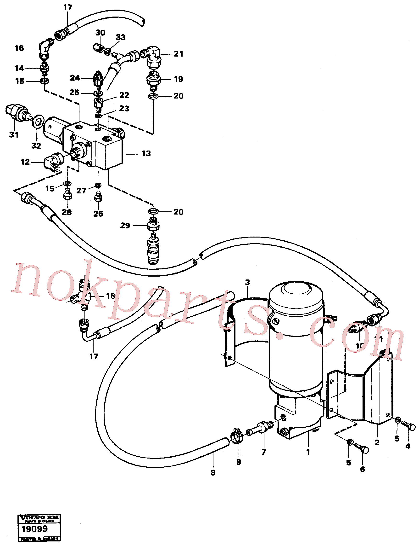 ZM7092206 for Volvo Secondary steering system.(19099 assembly)