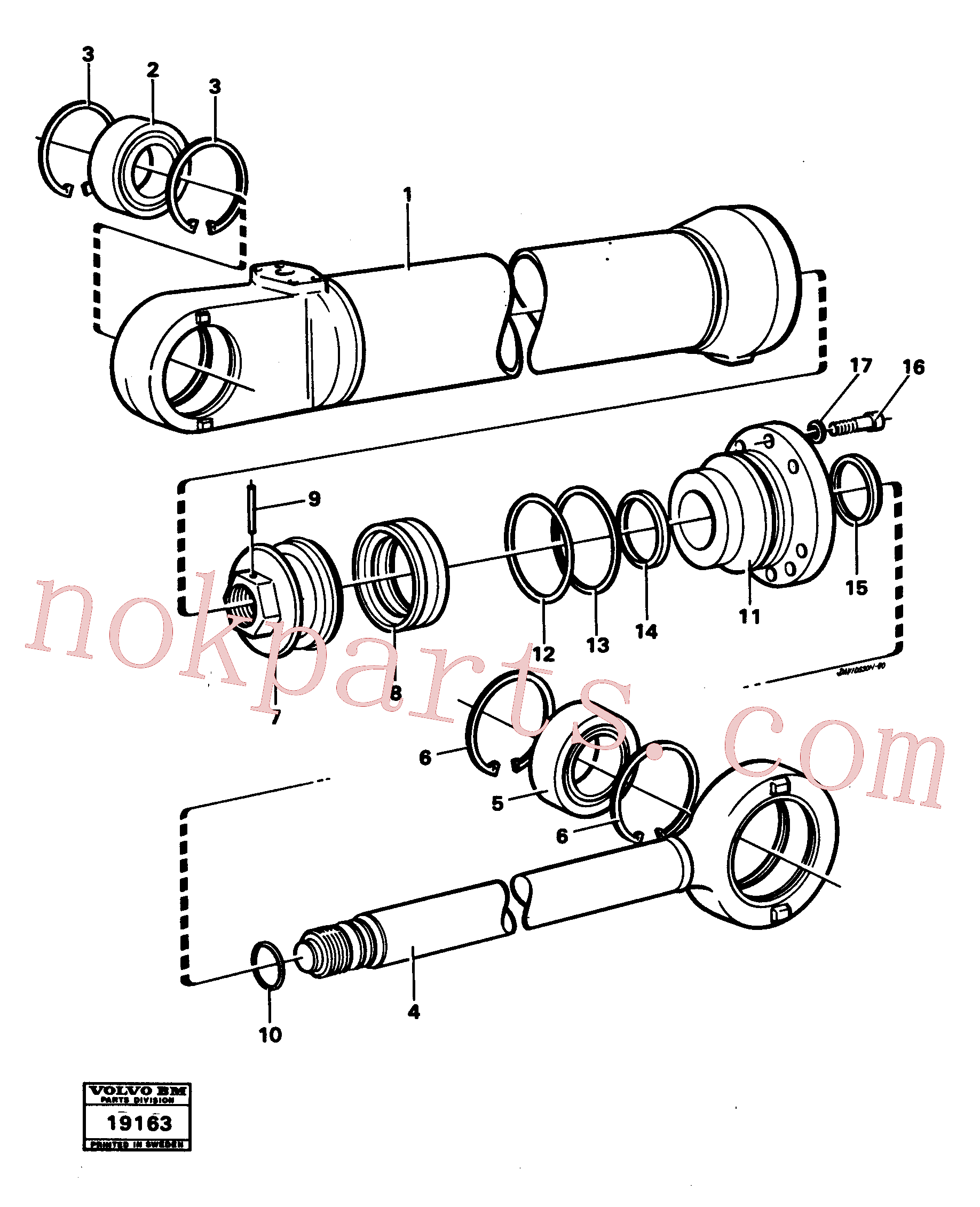 VOE11005195 for Volvo Hydraulic cylinder lifting(19163 assembly)