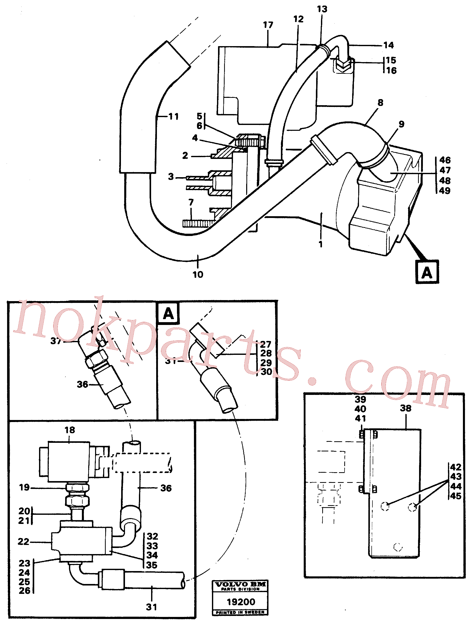 VOE970969 for Volvo Hydraulic system, rear 5:th, 6:th function.(19200 assembly)