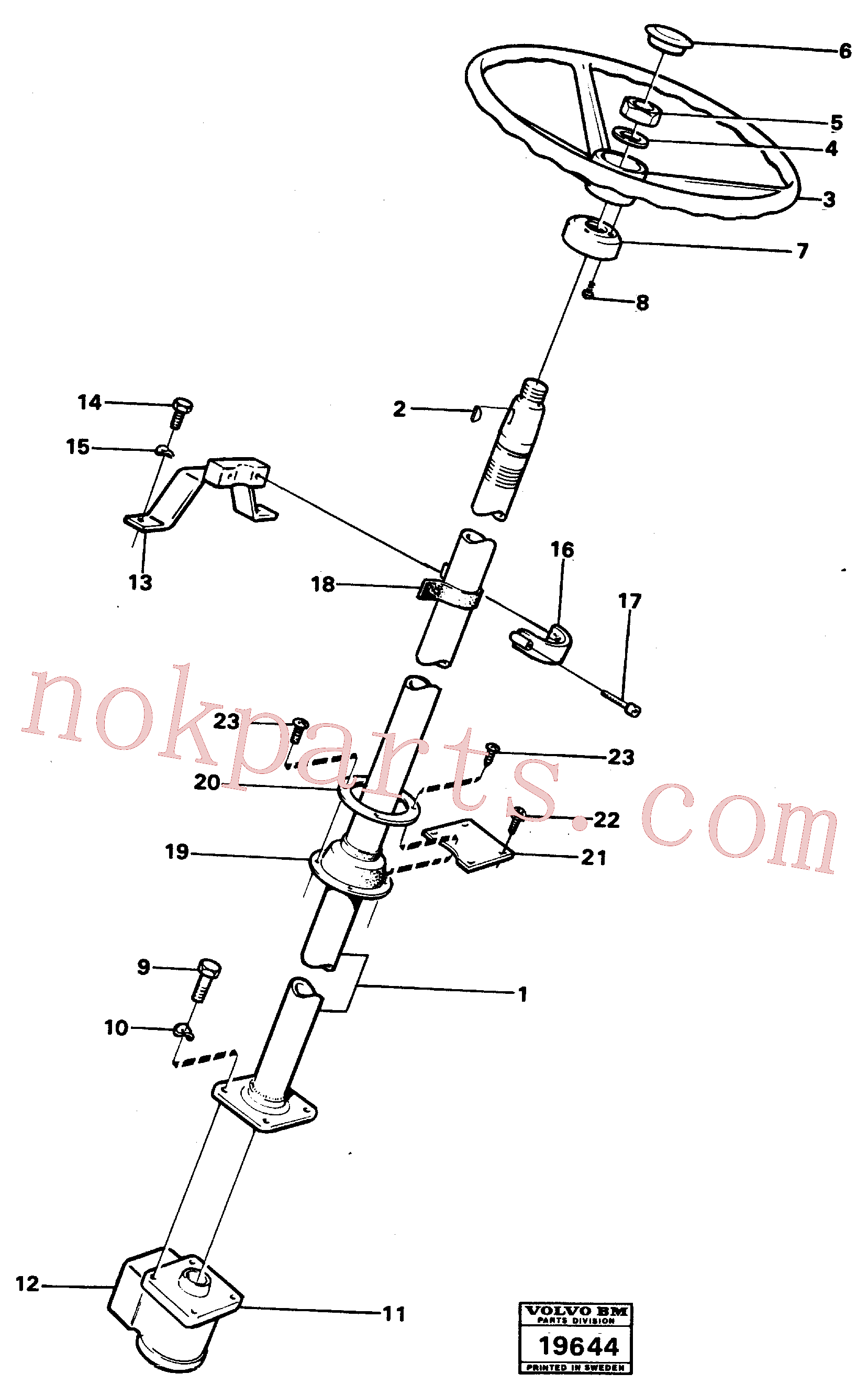 VOE13969514 for Volvo Steering column with fitting parts.(19644 assembly)