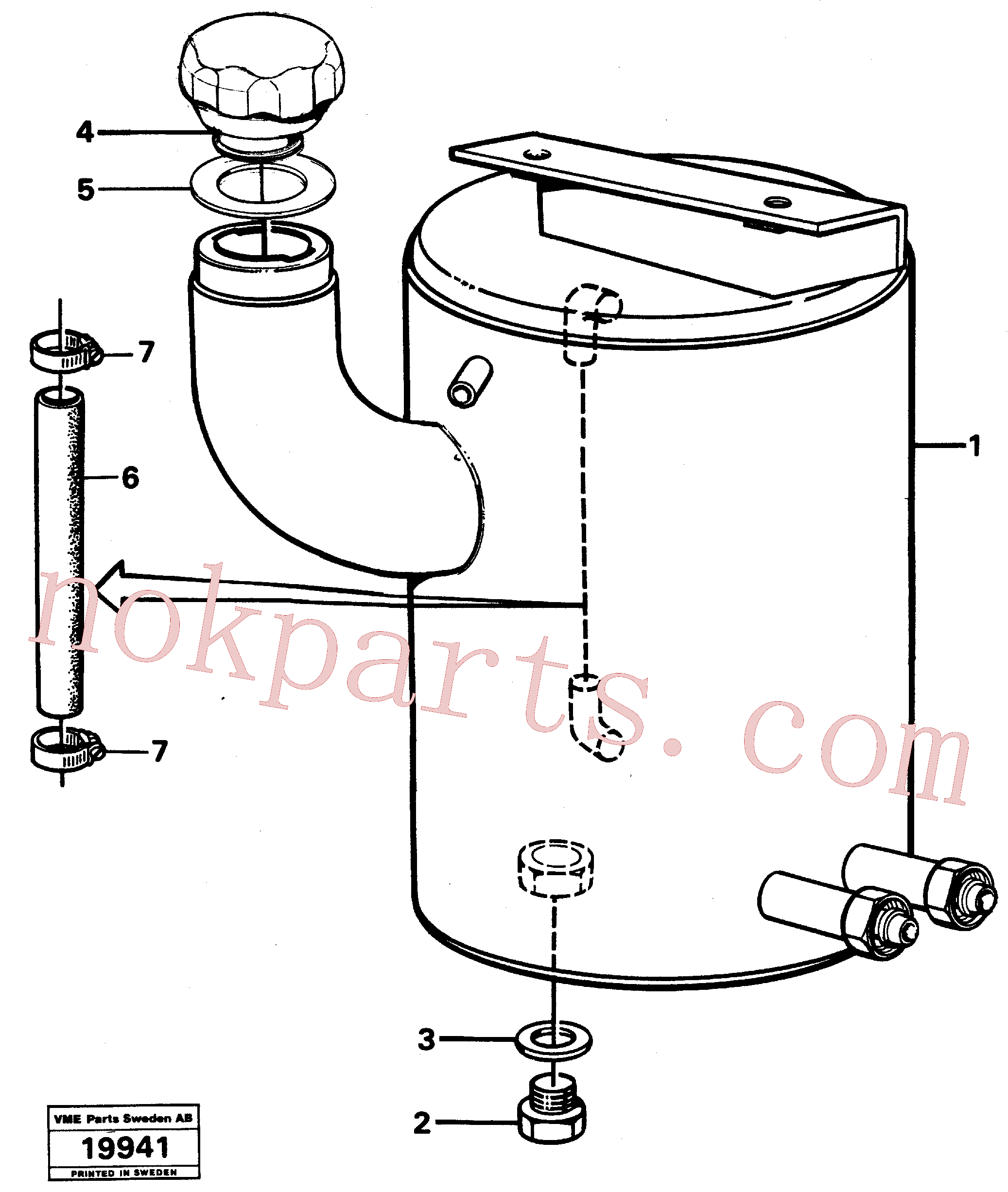 VOE957184 for Volvo Oil tank(19941 assembly)